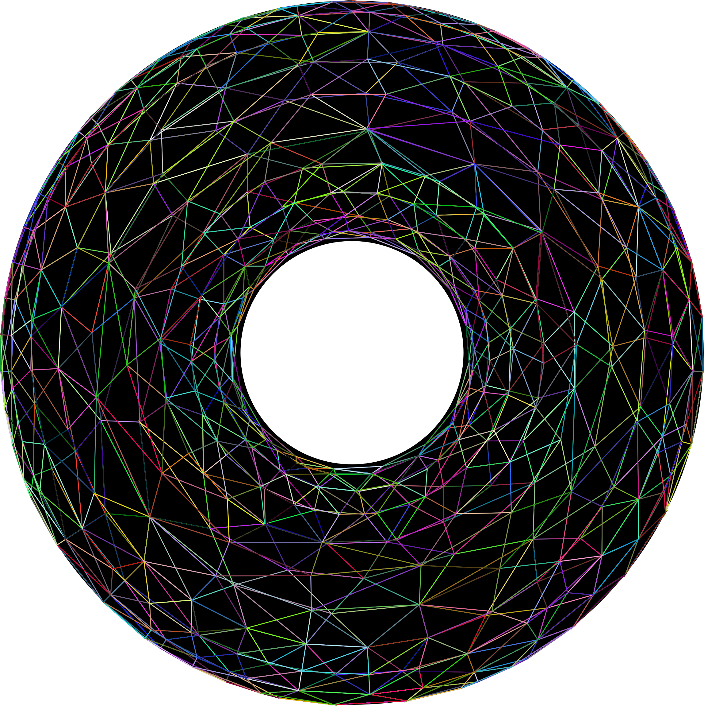 3D Torus Wireframe Prismatic With Background by GDJ