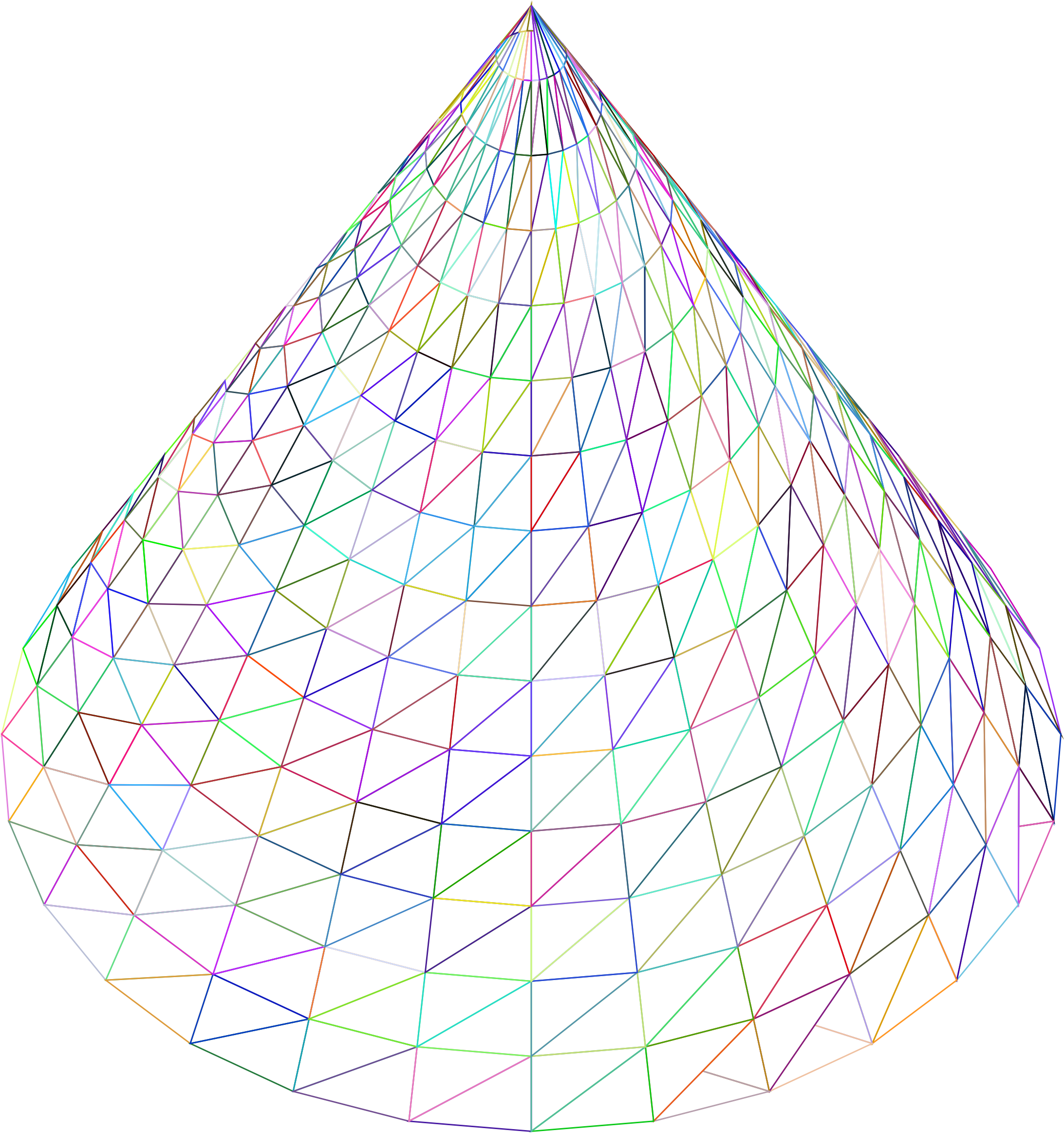 3D Cone Wireframe Prismatic by GDJ