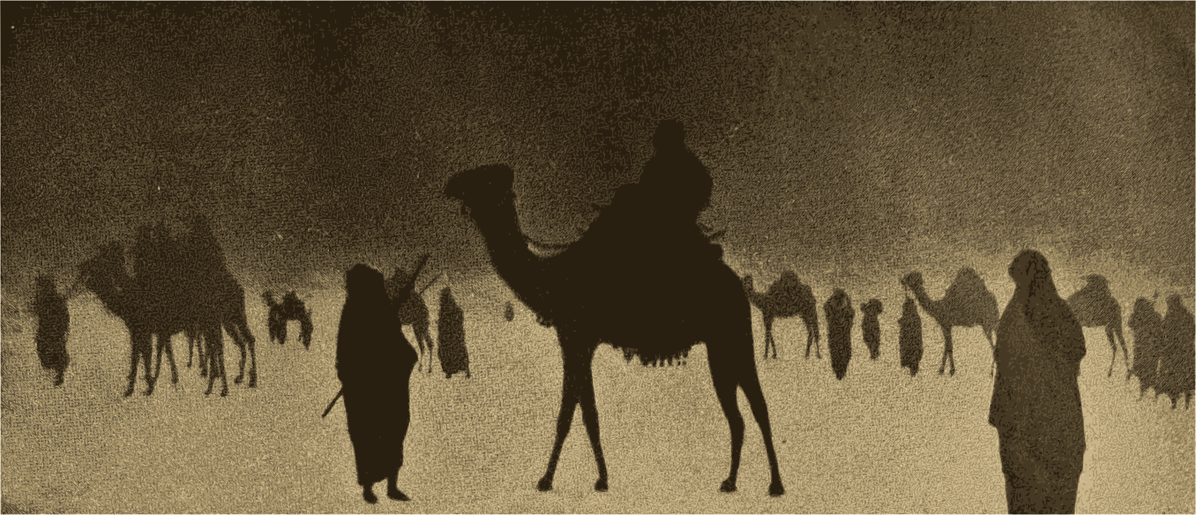 Camels in the Desert by j4p4n