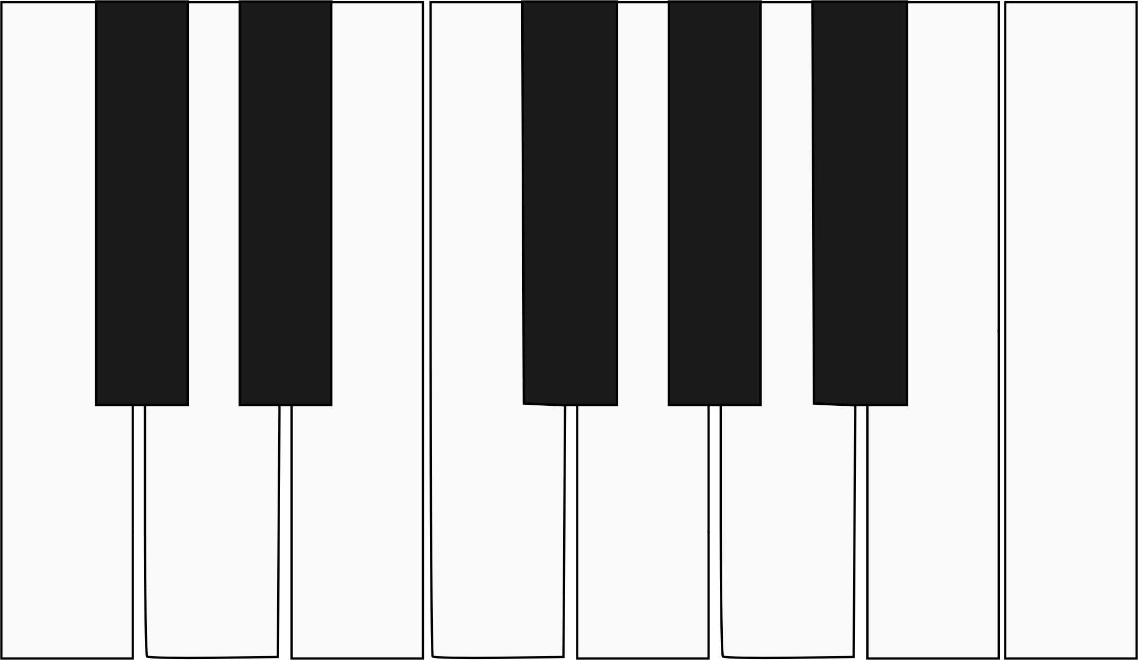 One octave piano keyboard by snifty