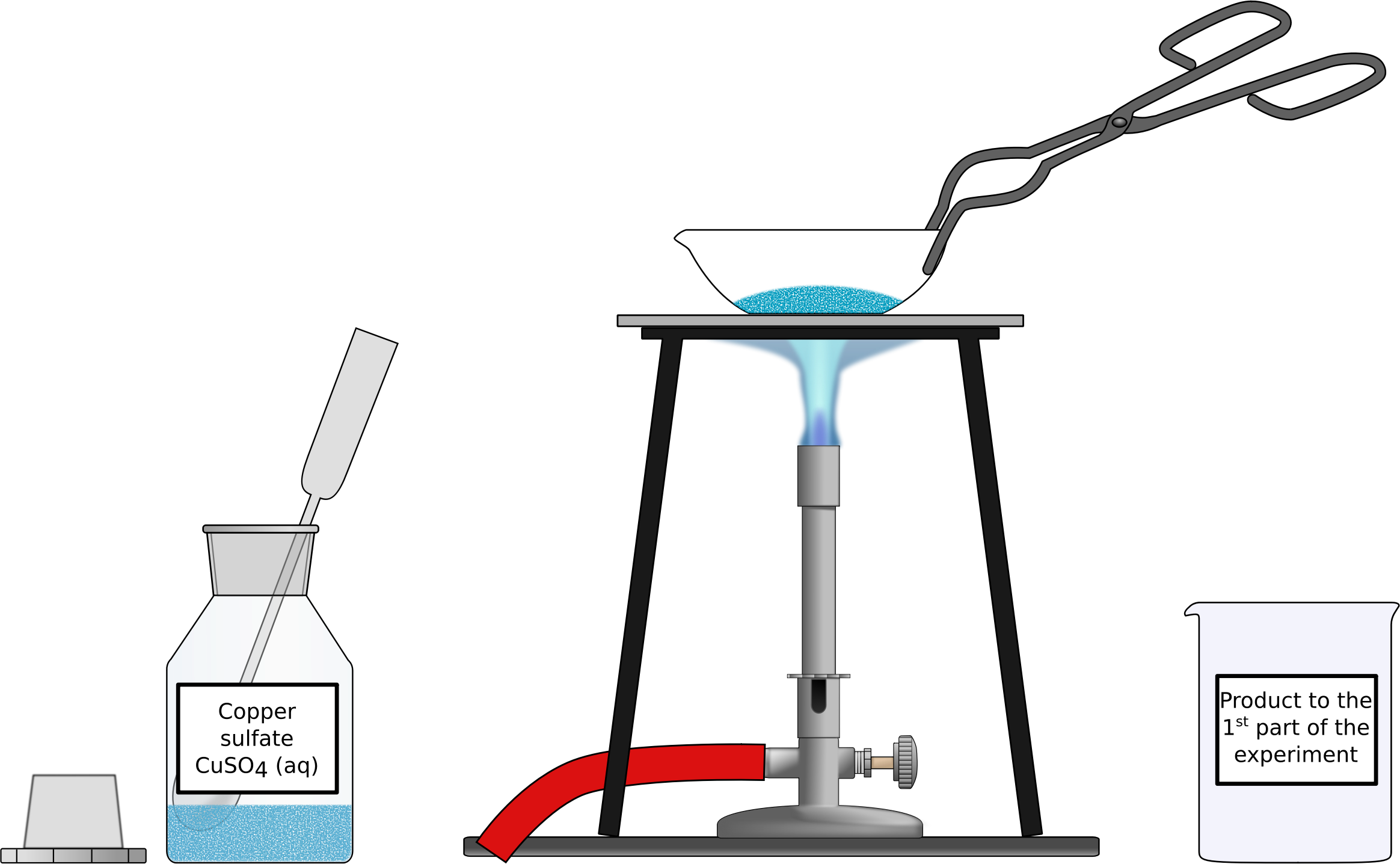 Heating of hydrous copper sulfate by Firkin