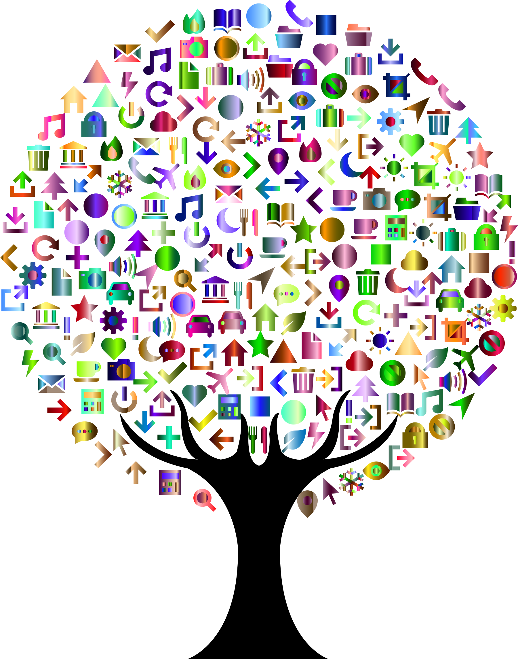 Abstract Icons Tree Prismatic 3 by GDJ