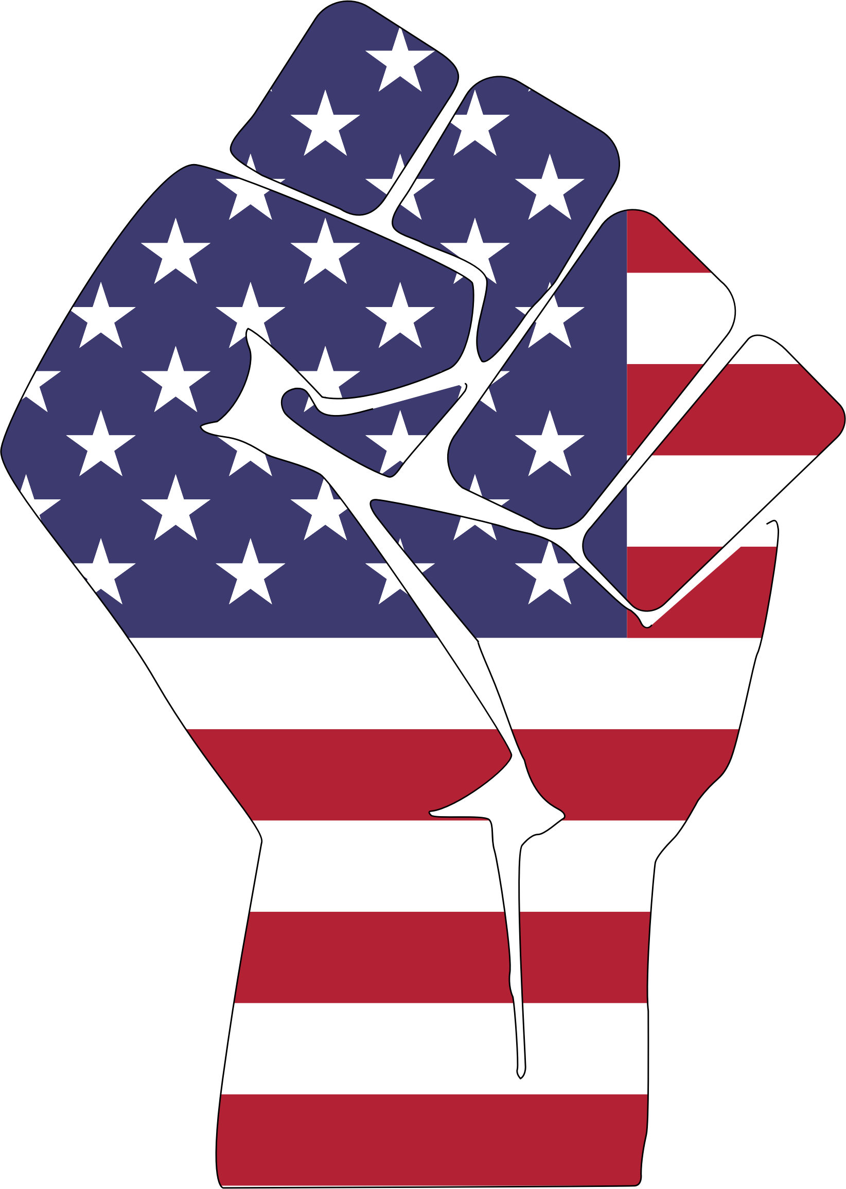 American Flag Fist With Stroke by GDJ