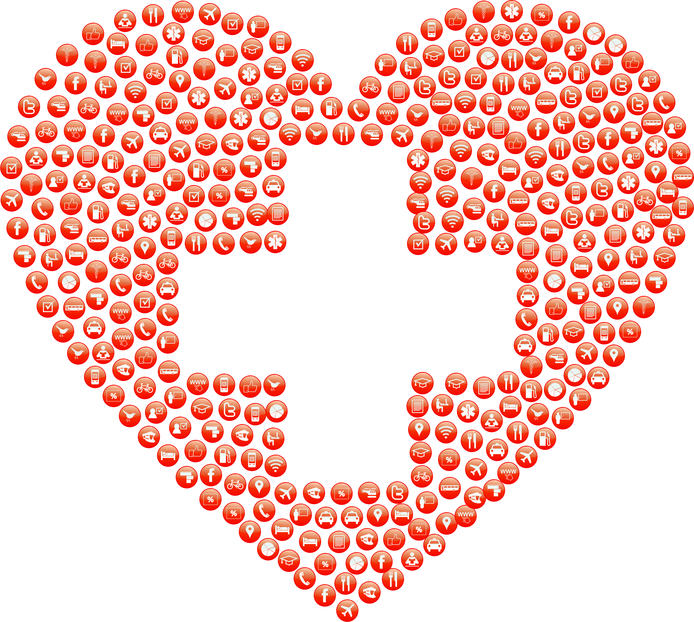 First Aid Heart Icons by GDJ