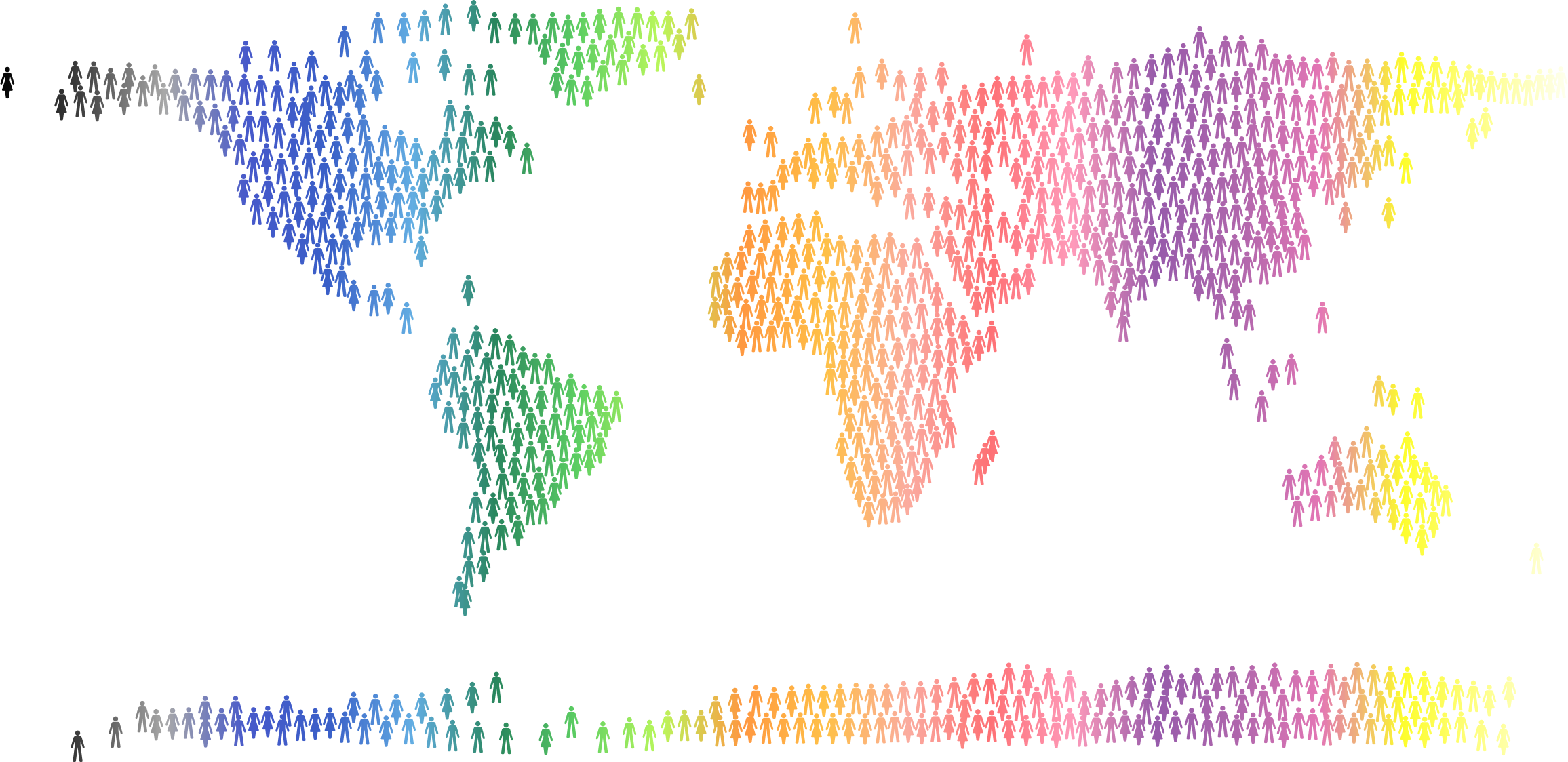 People World Map Prismatic 4 by GDJ