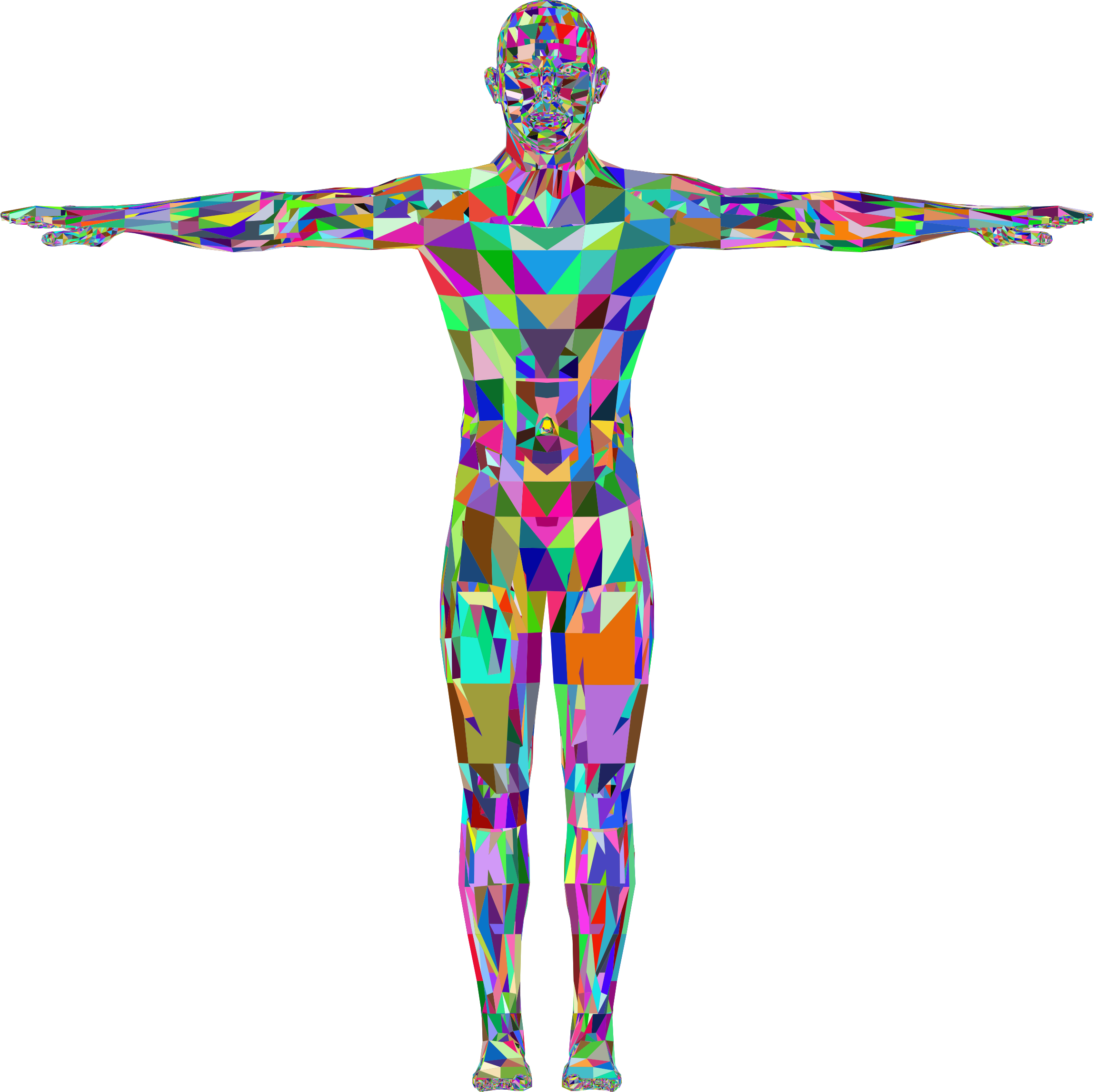 Detailed Low Poly Man Prismatic by GDJ