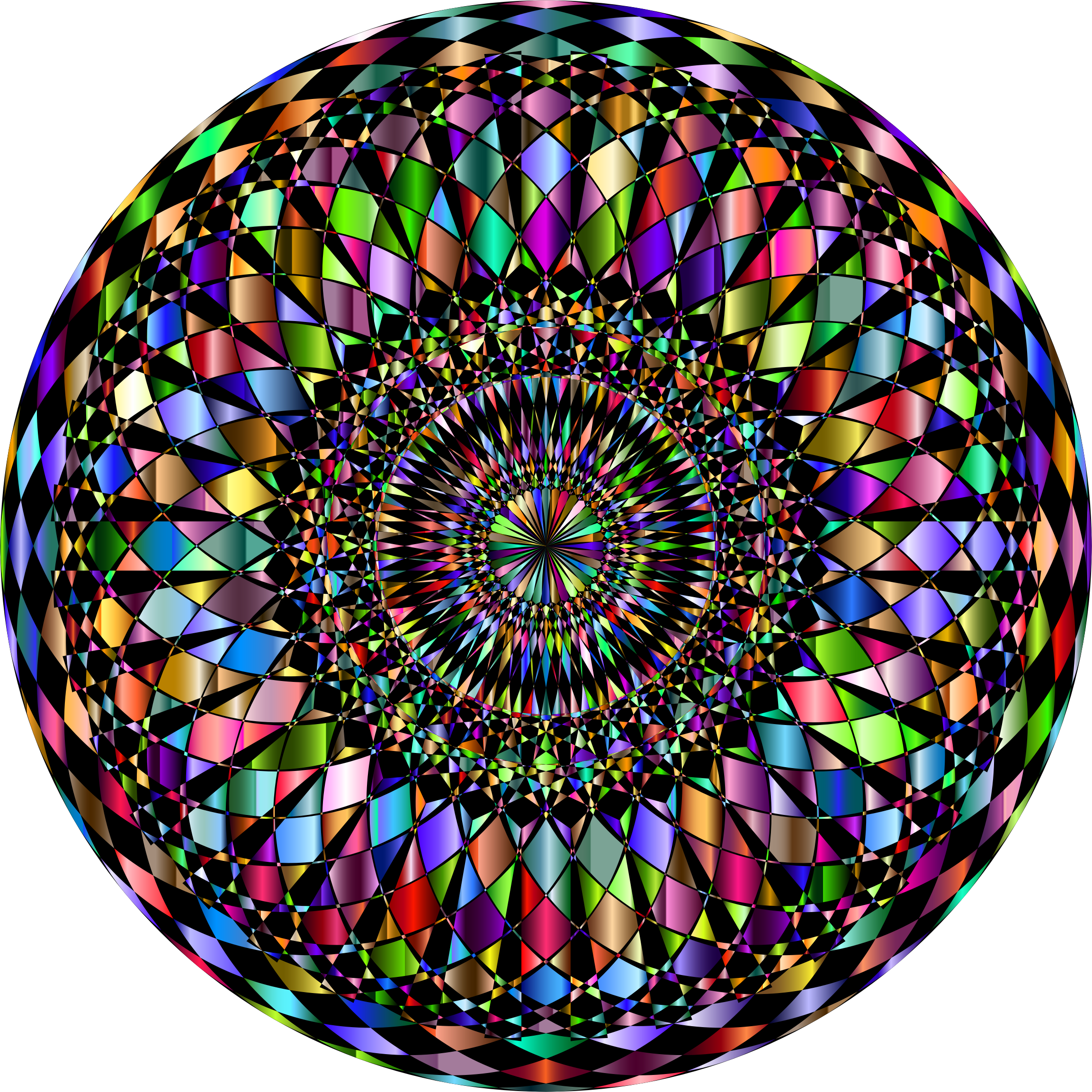 Decorative Mandala II Prismatic by GDJ