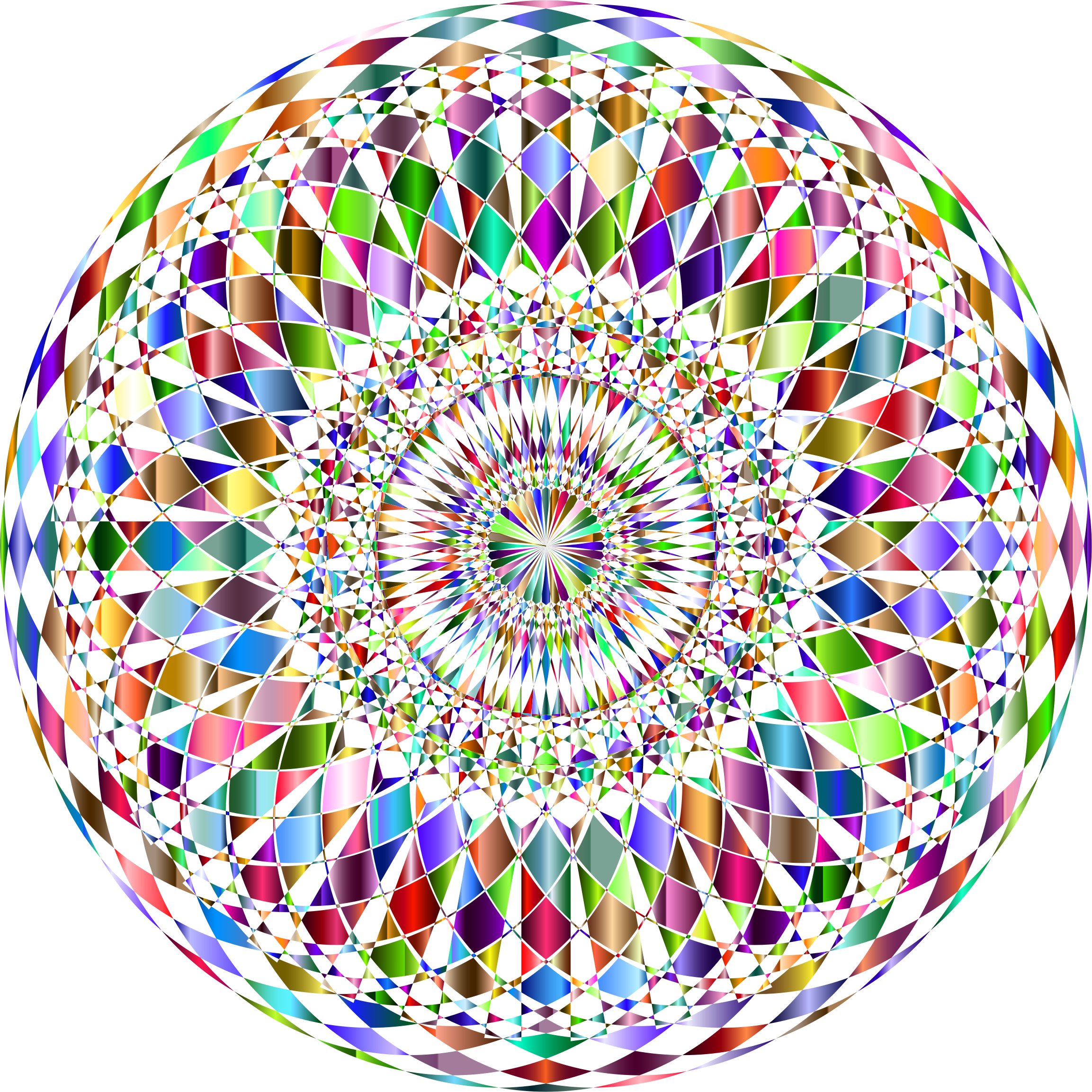 Decorative Mandala II Prismatic No Background by GDJ