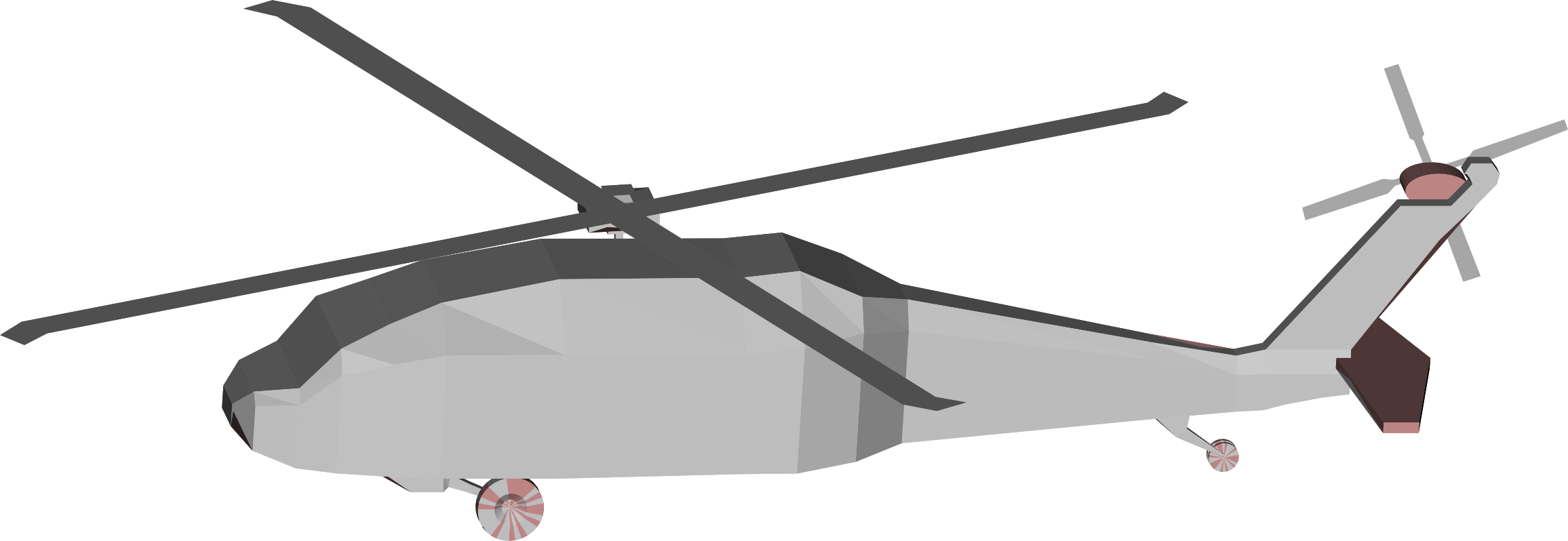 3D Low Poly Blackhawk Helicopter by GDJ