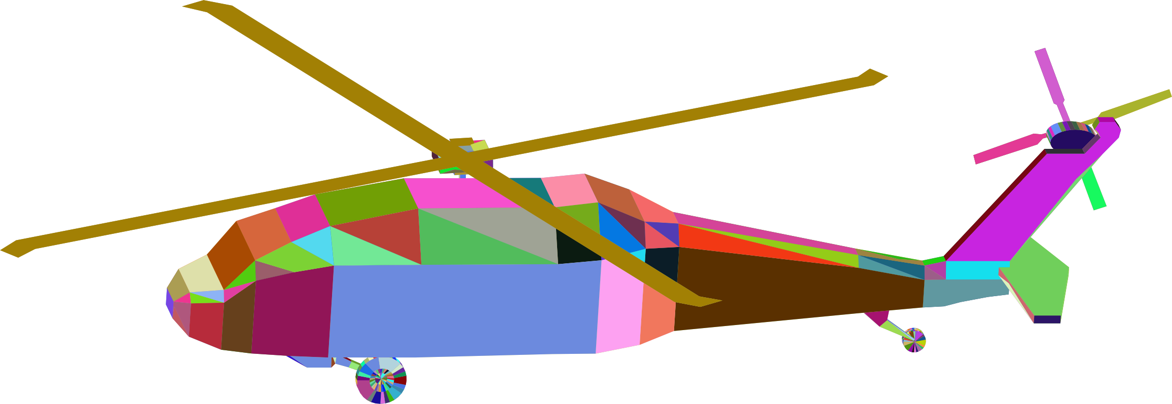 3D Low Poly Blackhawk Helicopter Prismatic by GDJ