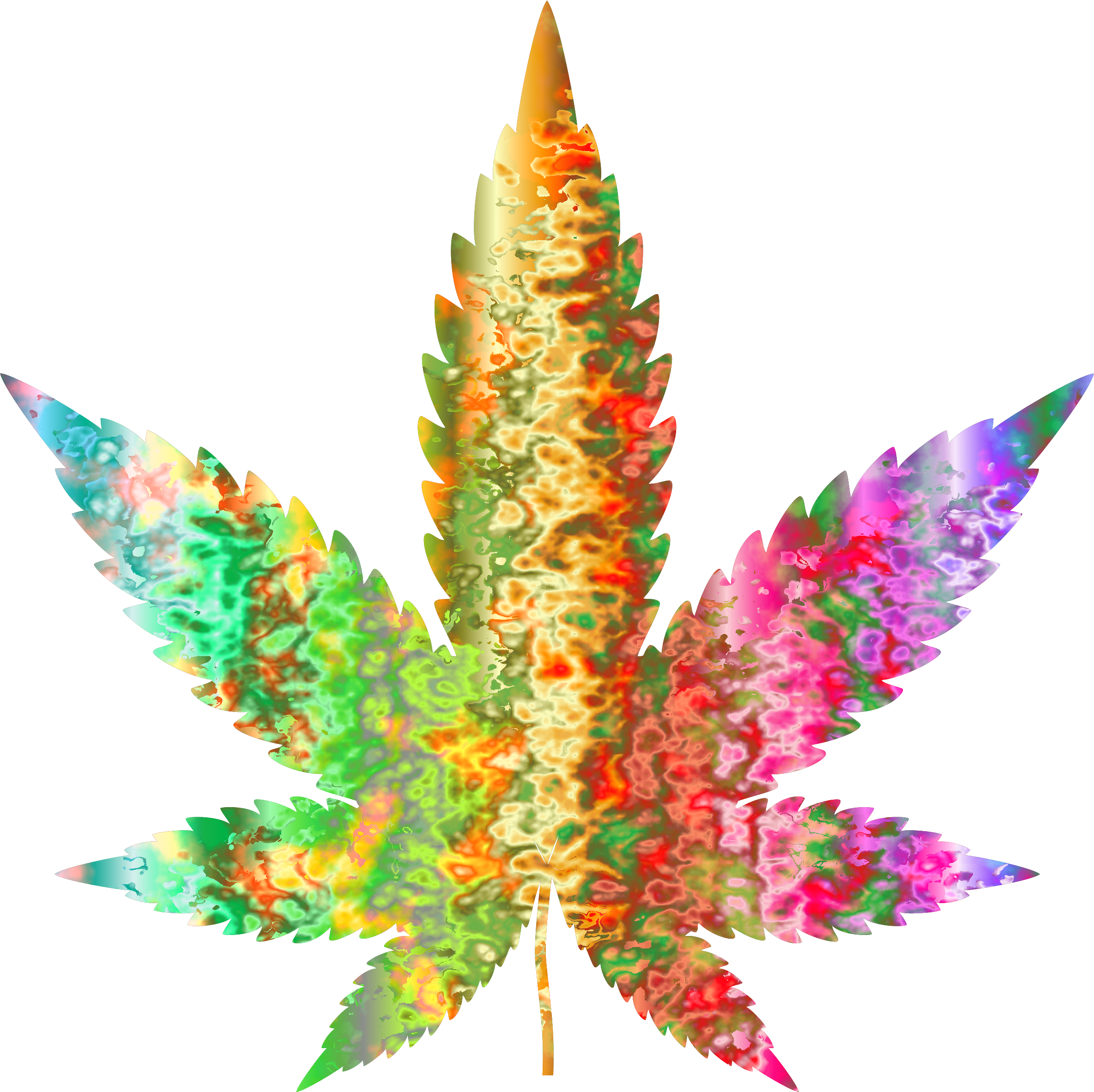 Psychedelic Marijuana Leaf by Arvin61r58