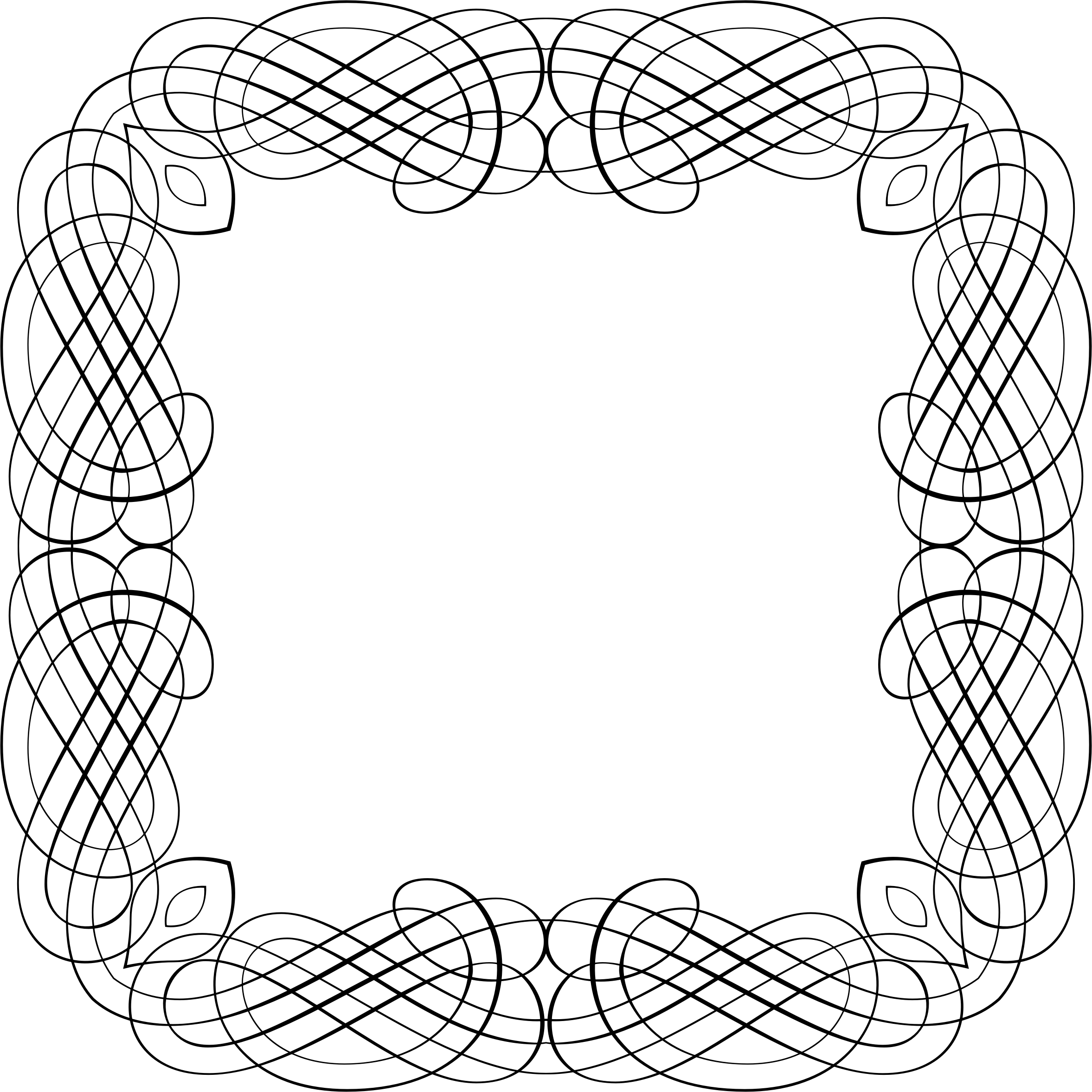 Line Art Frames : Clipart line art frame
