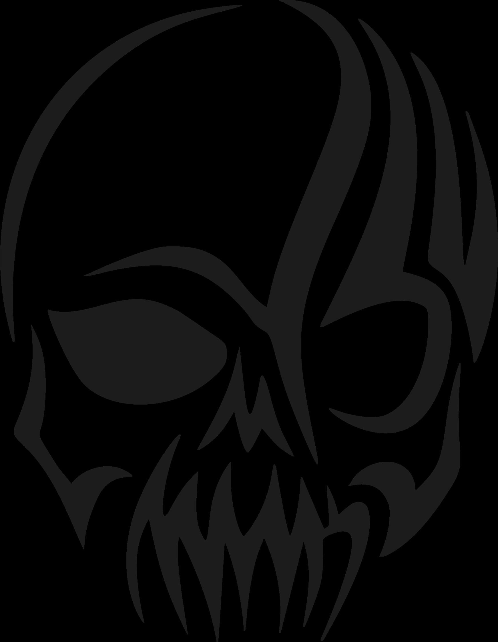clipart tribal skull silhouette