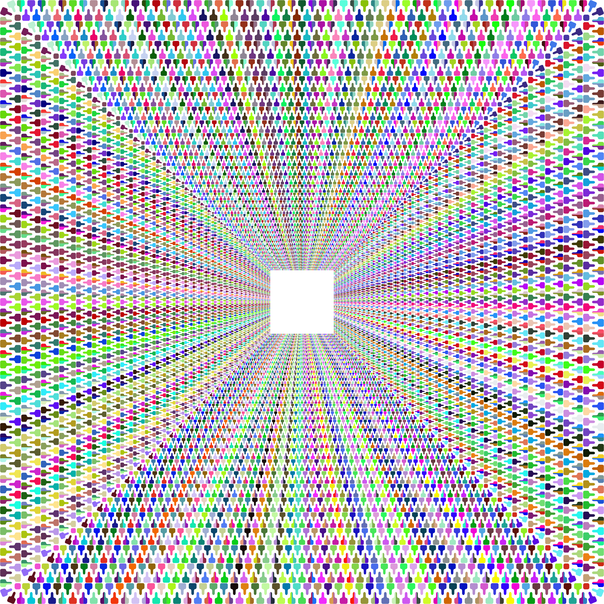 Zipper Tunnel Prismatic No Background by GDJ