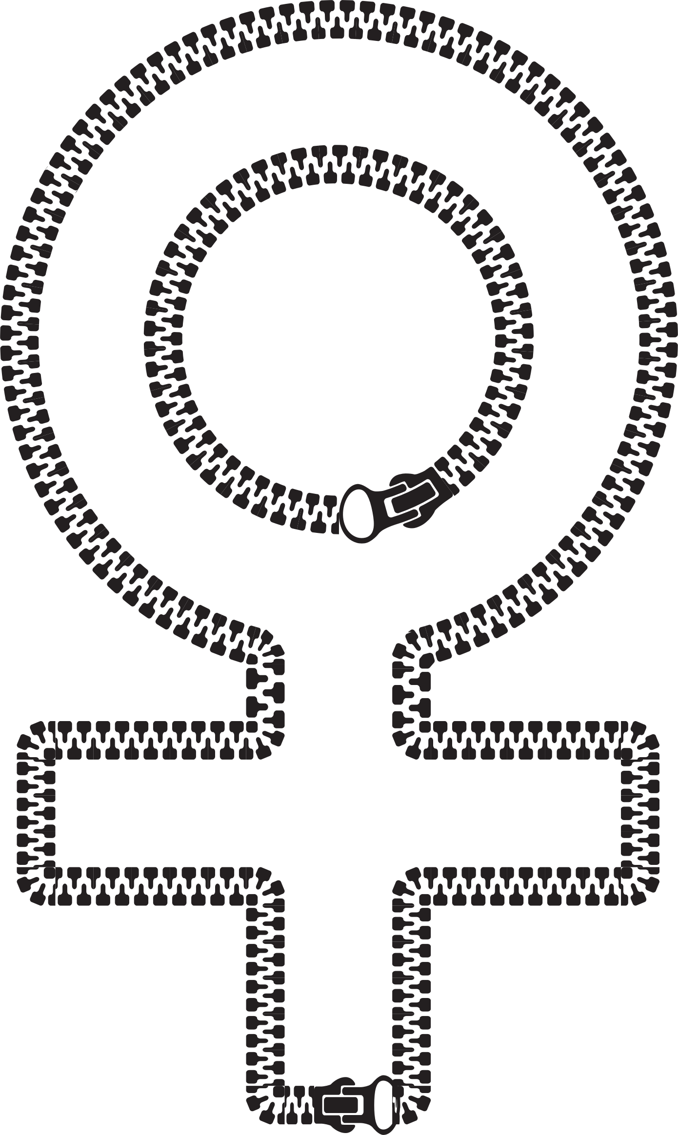 Female Symbol Zipper by GDJ
