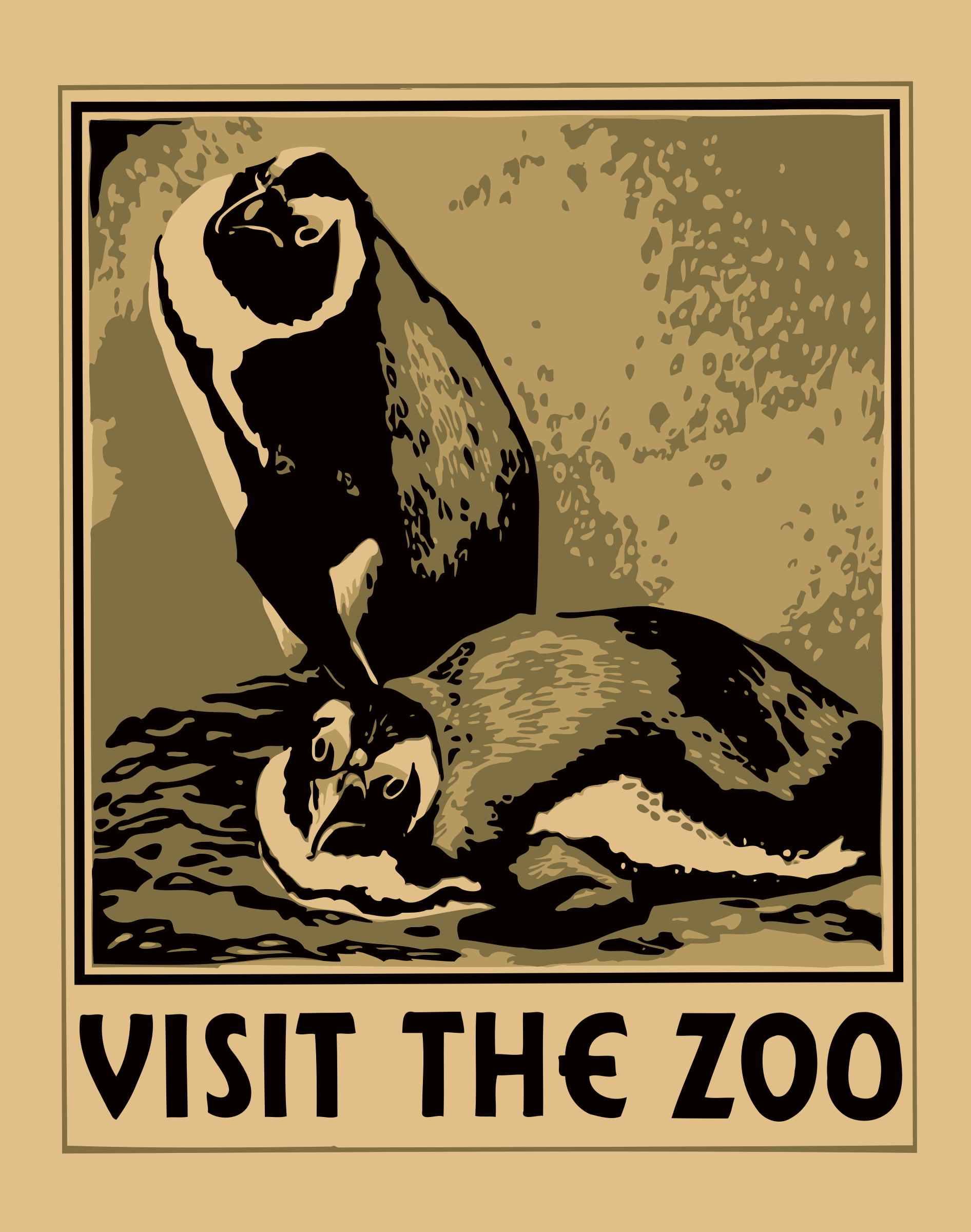 Visit the zoo poster 3 by Firkin