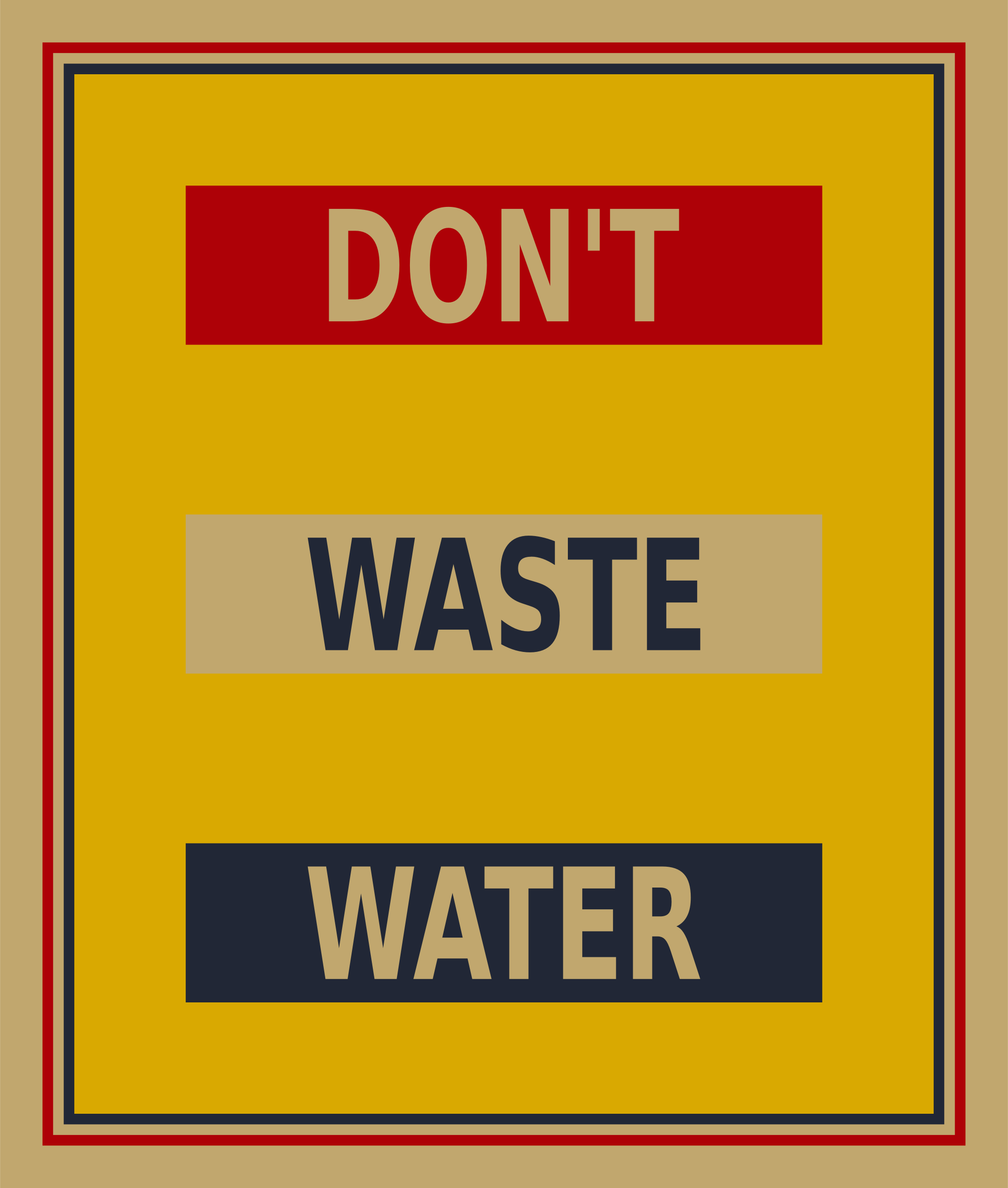 Don't waste water poster by Firkin