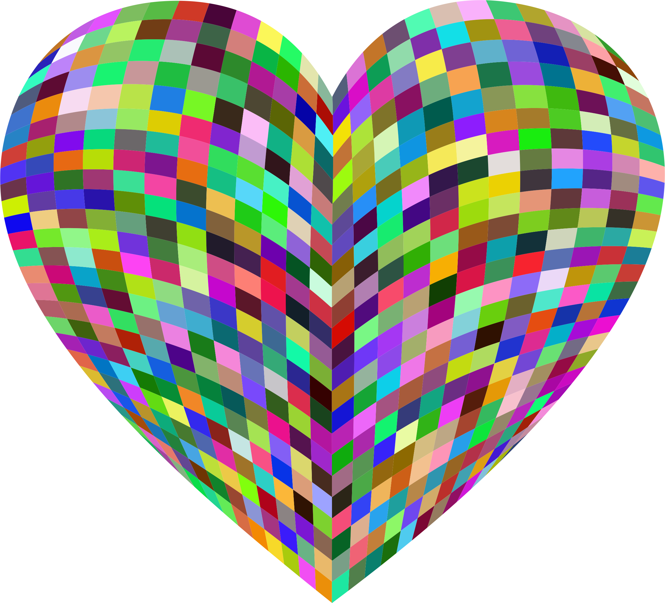 3D Prismatic Grid Heart by GDJ