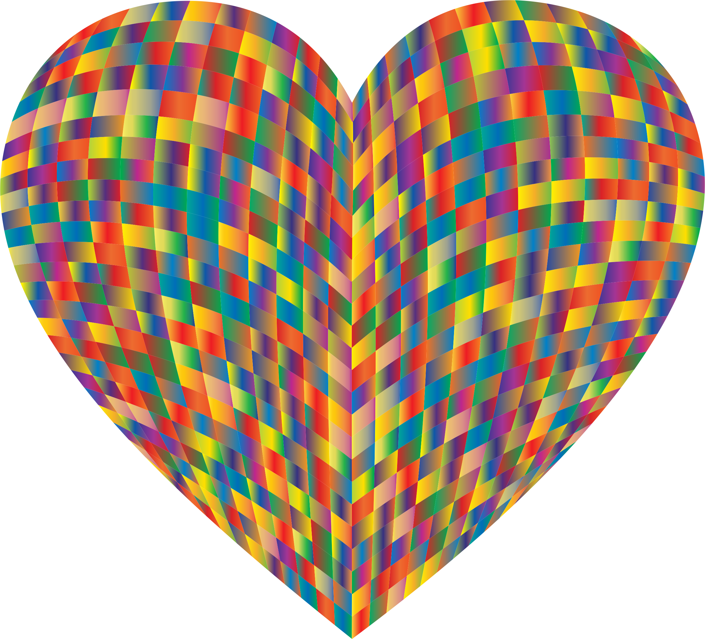 3D Prismatic Grid Heart 2 by GDJ