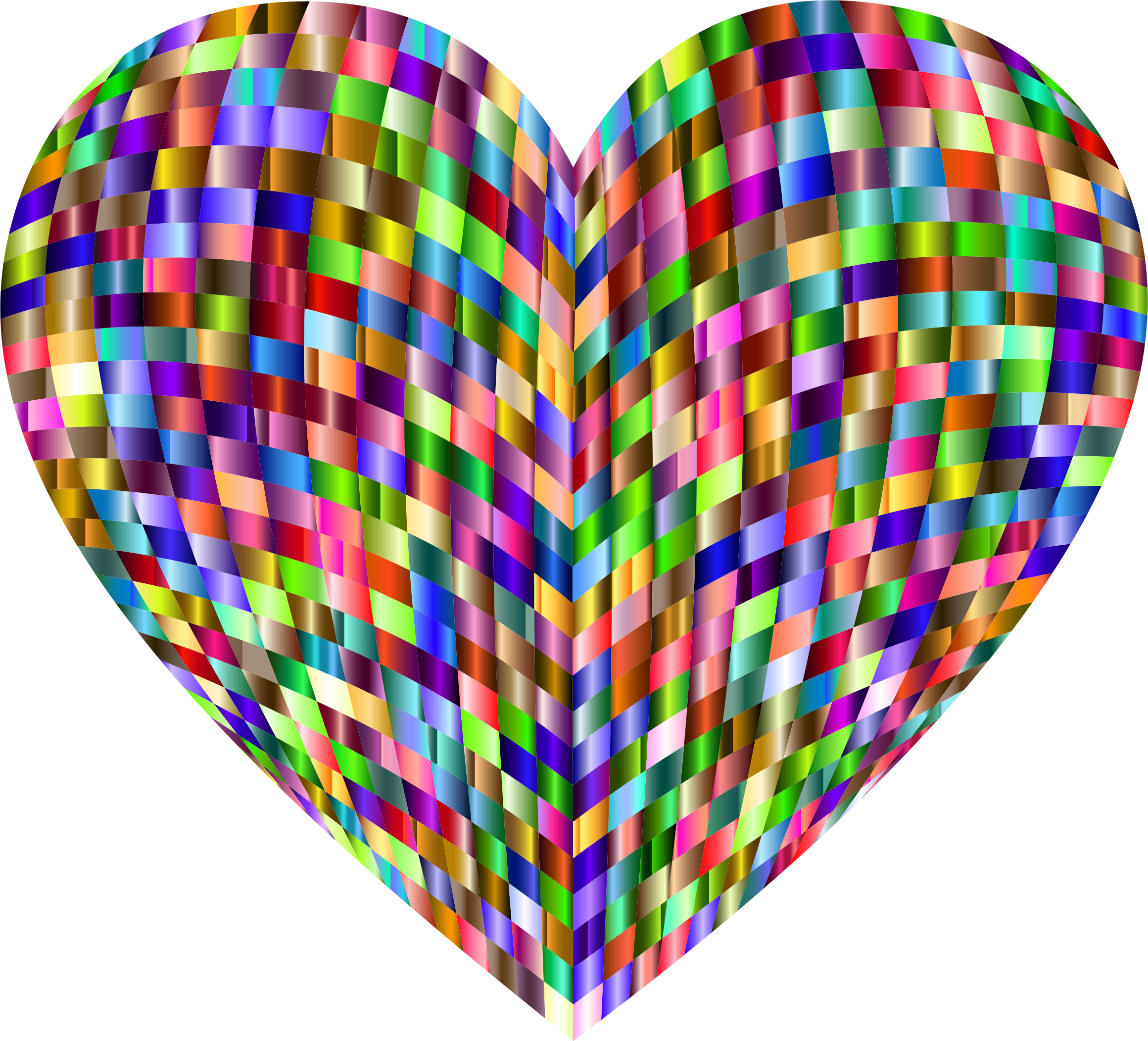 3D Prismatic Grid Heart 6 by GDJ