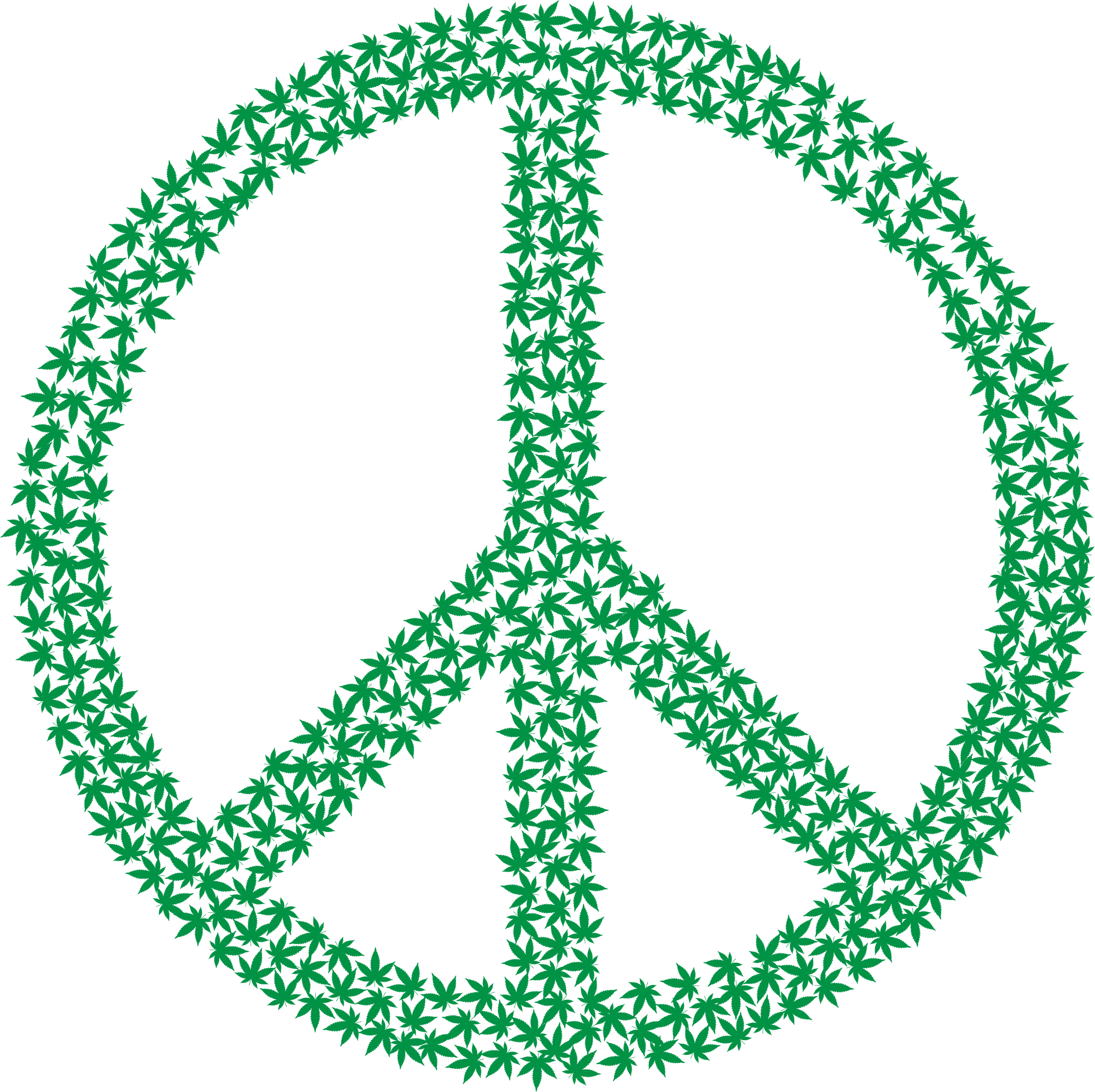 Marijuana Peace Sign by GDJ