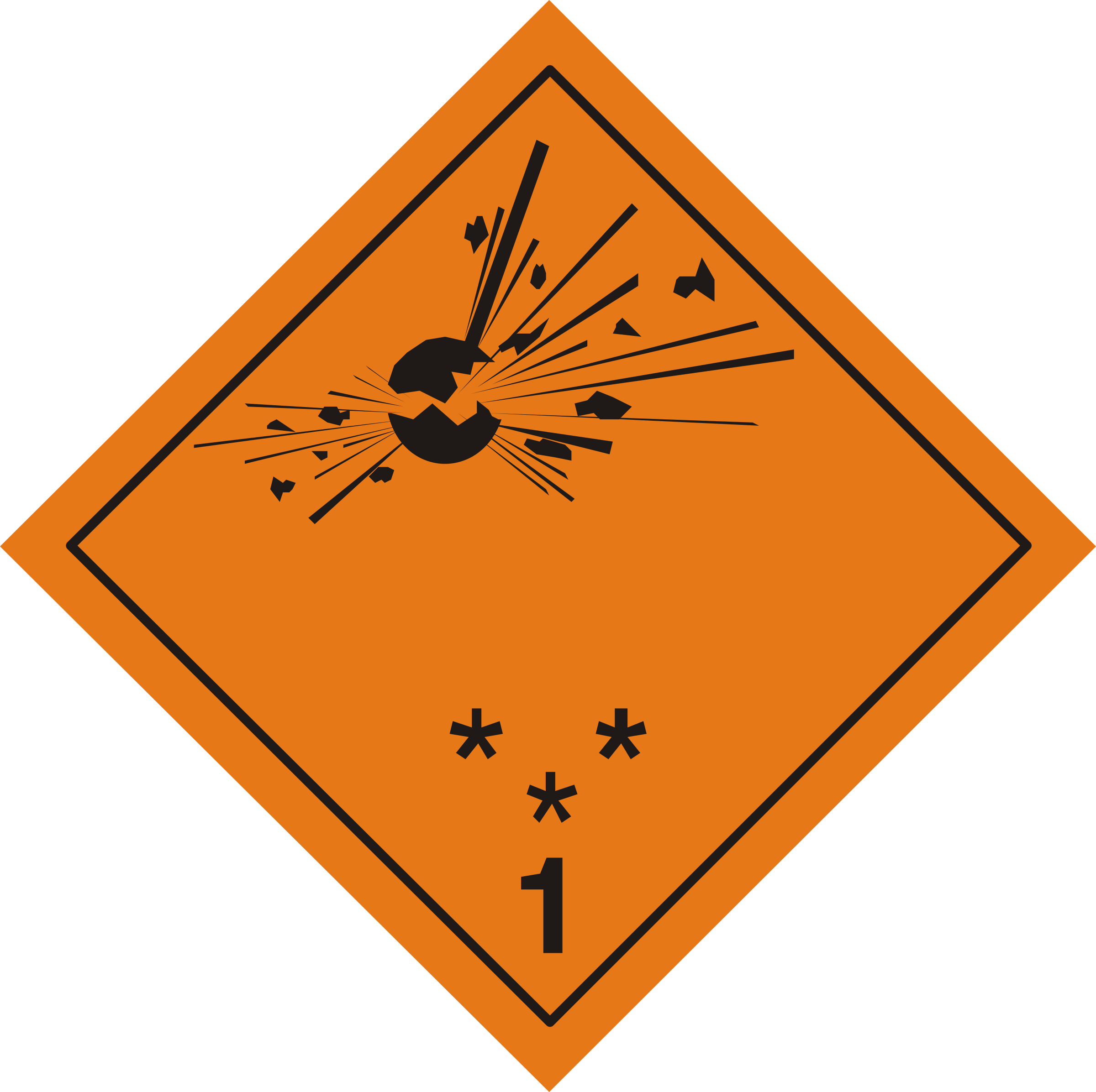 ADR pictogram 1 - Explosives by Juhele