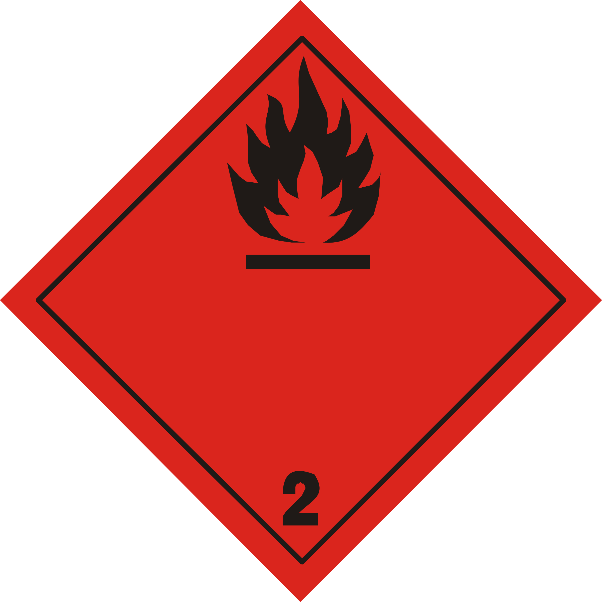 ADR pictogram 2.1-Flammable gases by Juhele