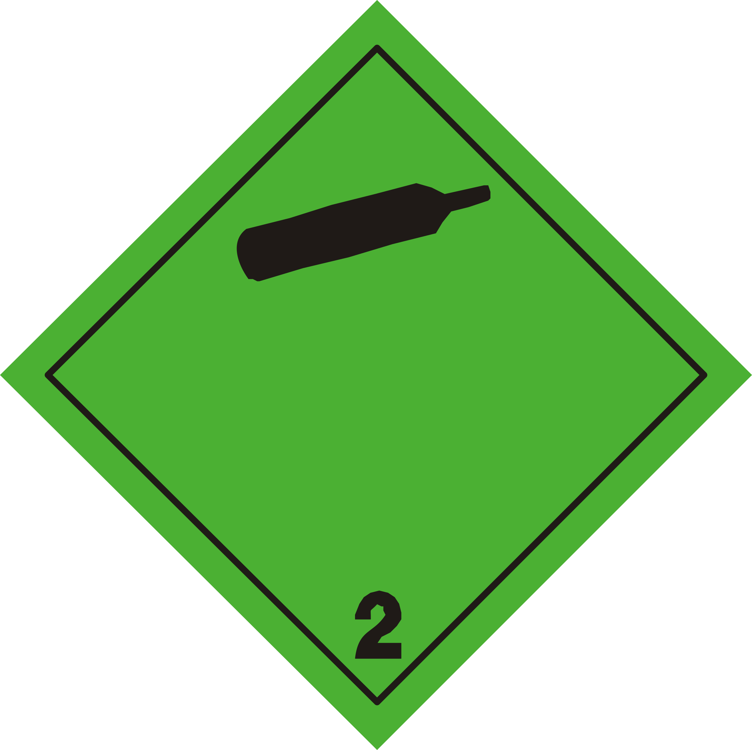 ADR pictogram 2.2-Non-toxic and non-flammable gases by Juhele