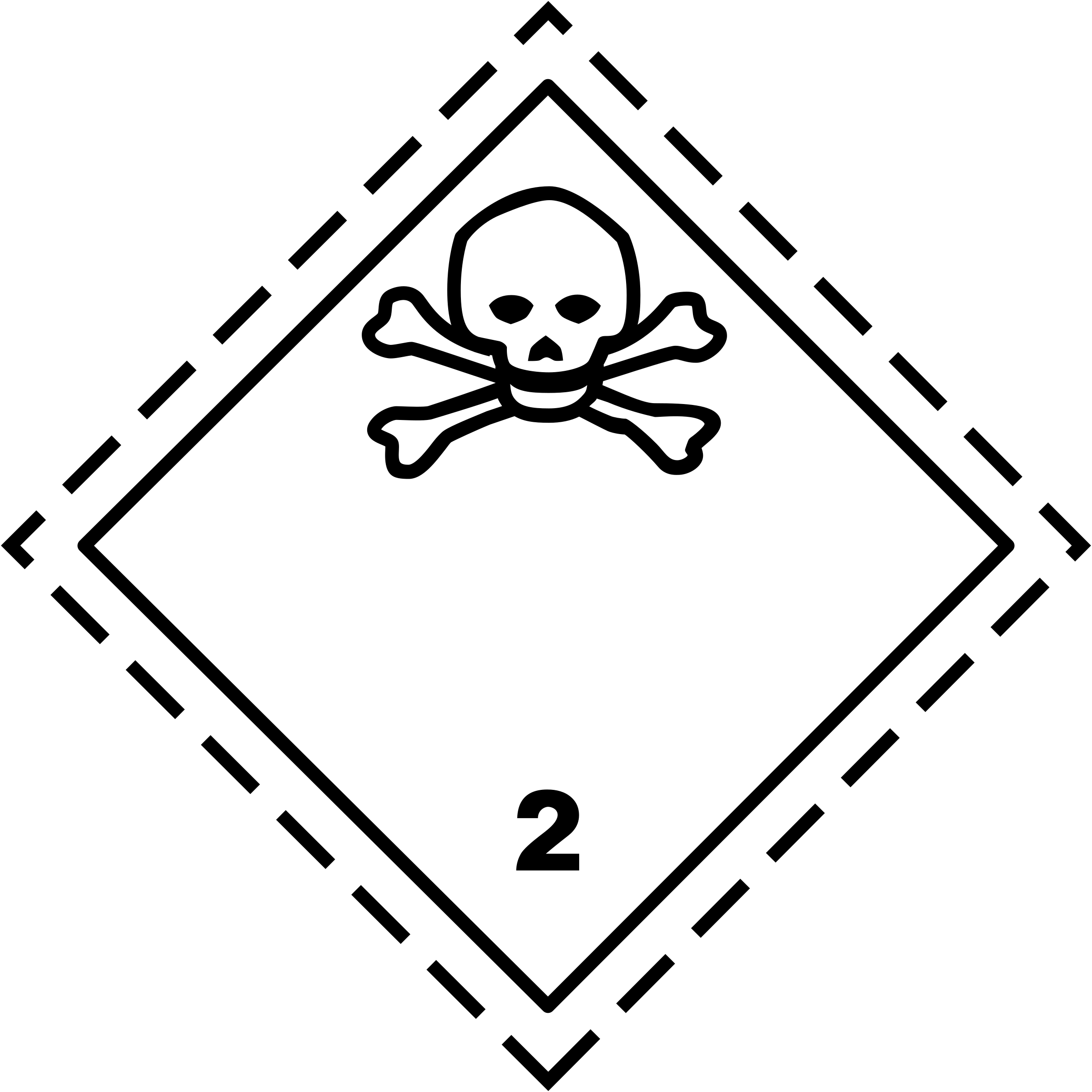 ADR pictogram 2.3-Poison gases by Juhele
