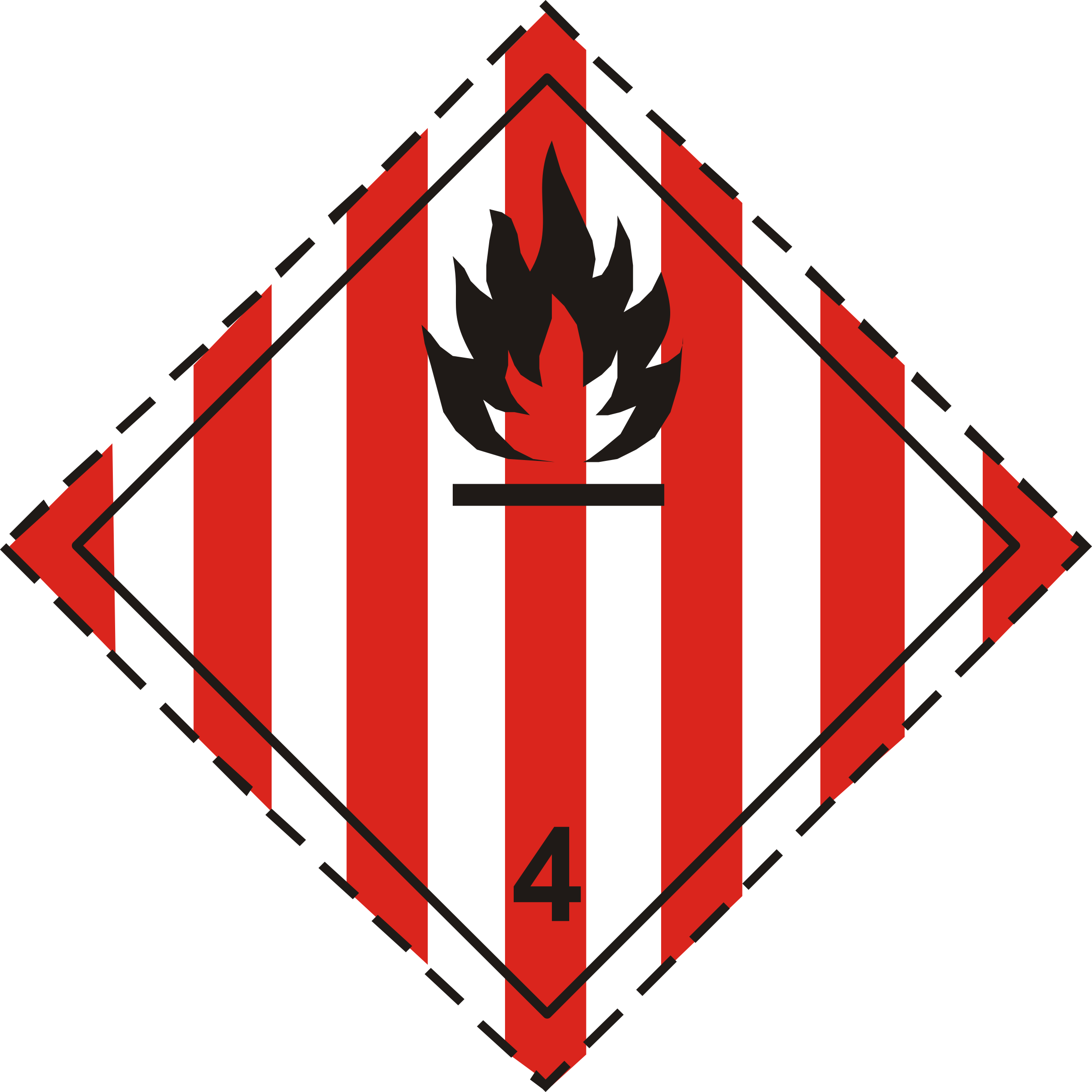 ADR pictogram 4.1-Flammable solids by Juhele
