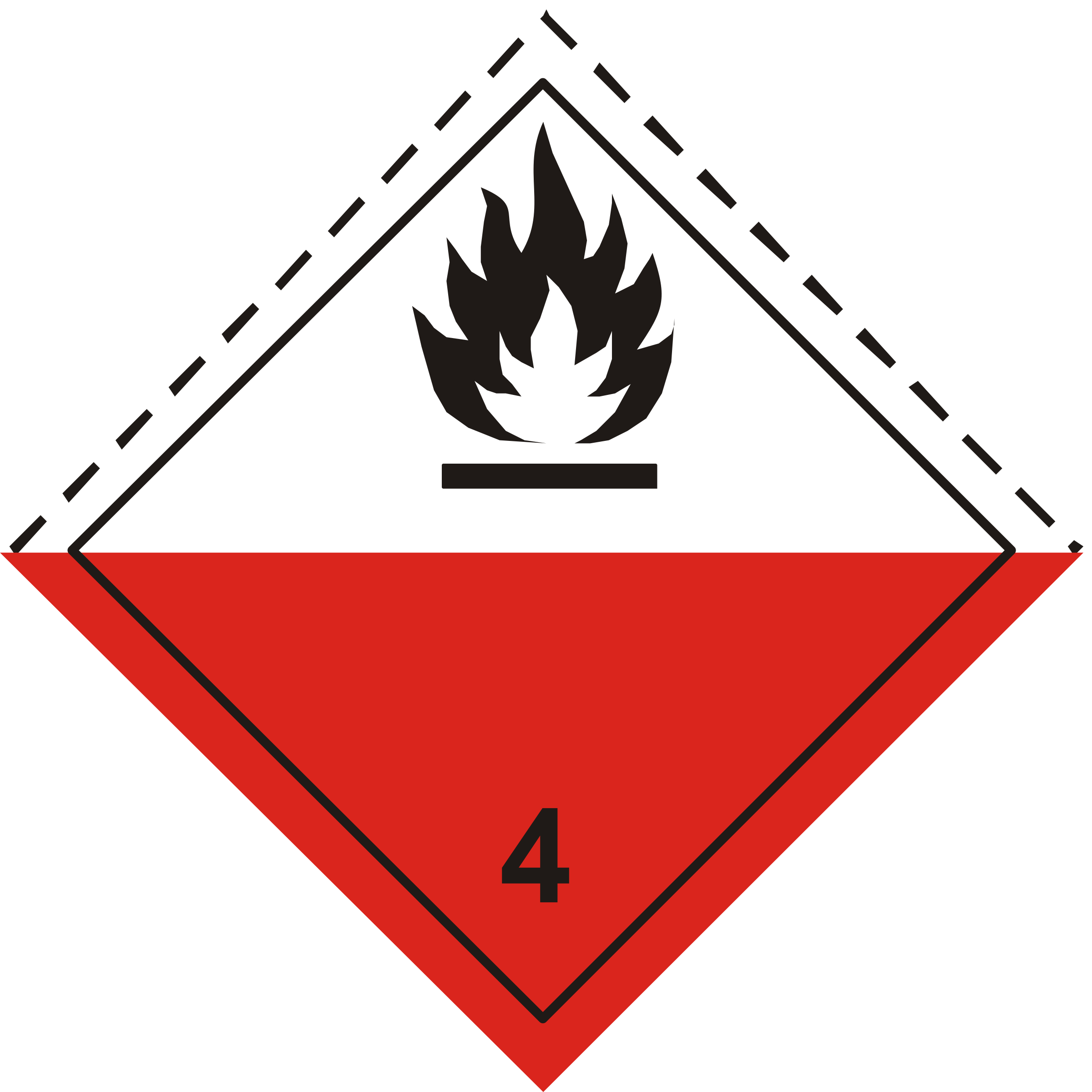ADR pictogram 4.2-Spontaneously combustibles by Juhele