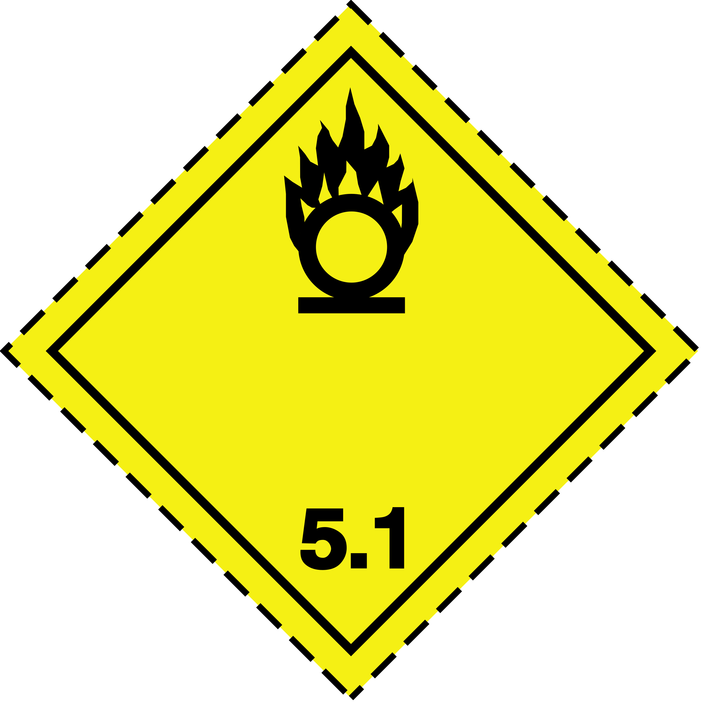 ADR pictogram 5.1-Oxidizers by Juhele
