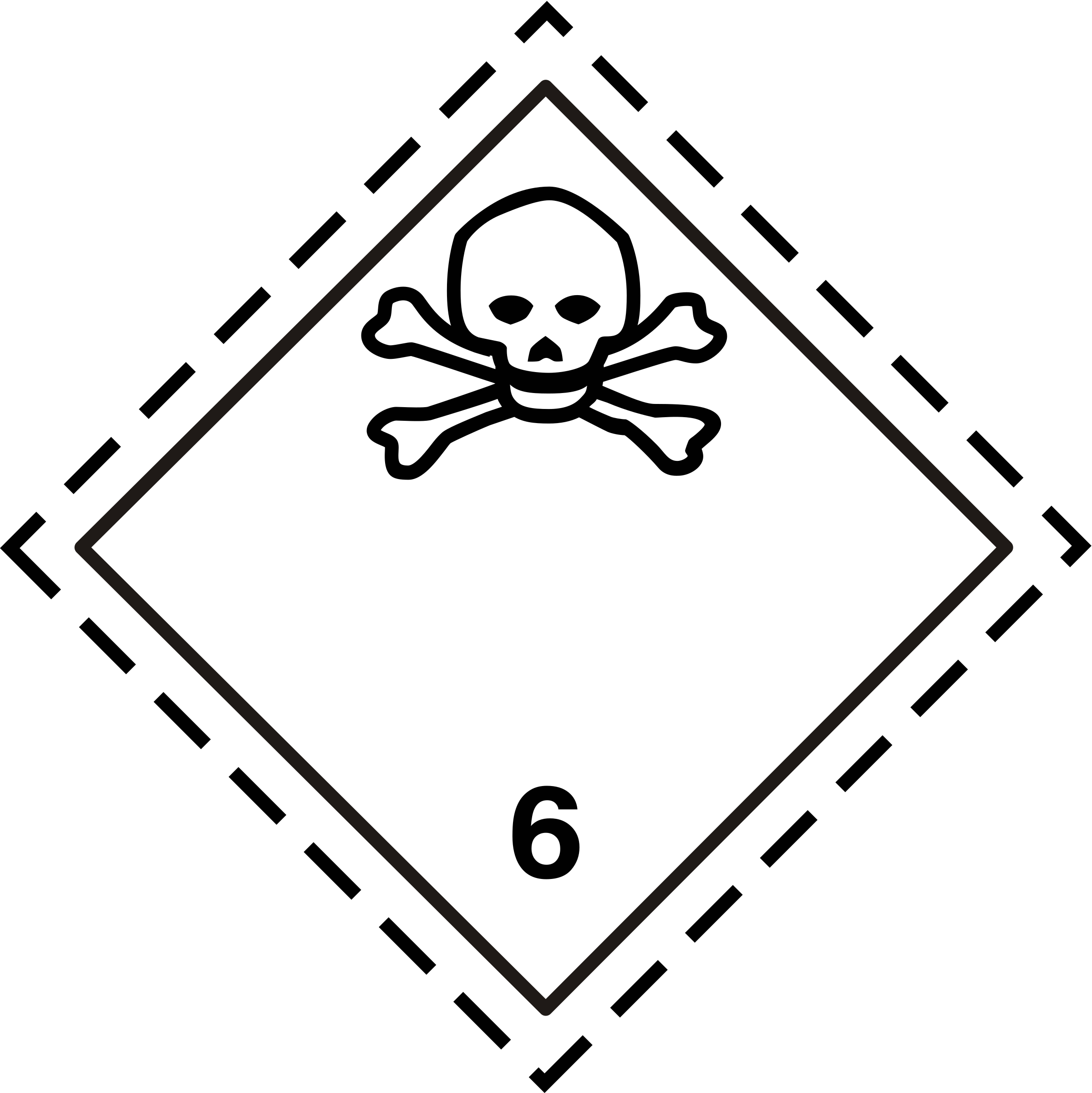 ADR pictogram 6.1-Poison by Juhele
