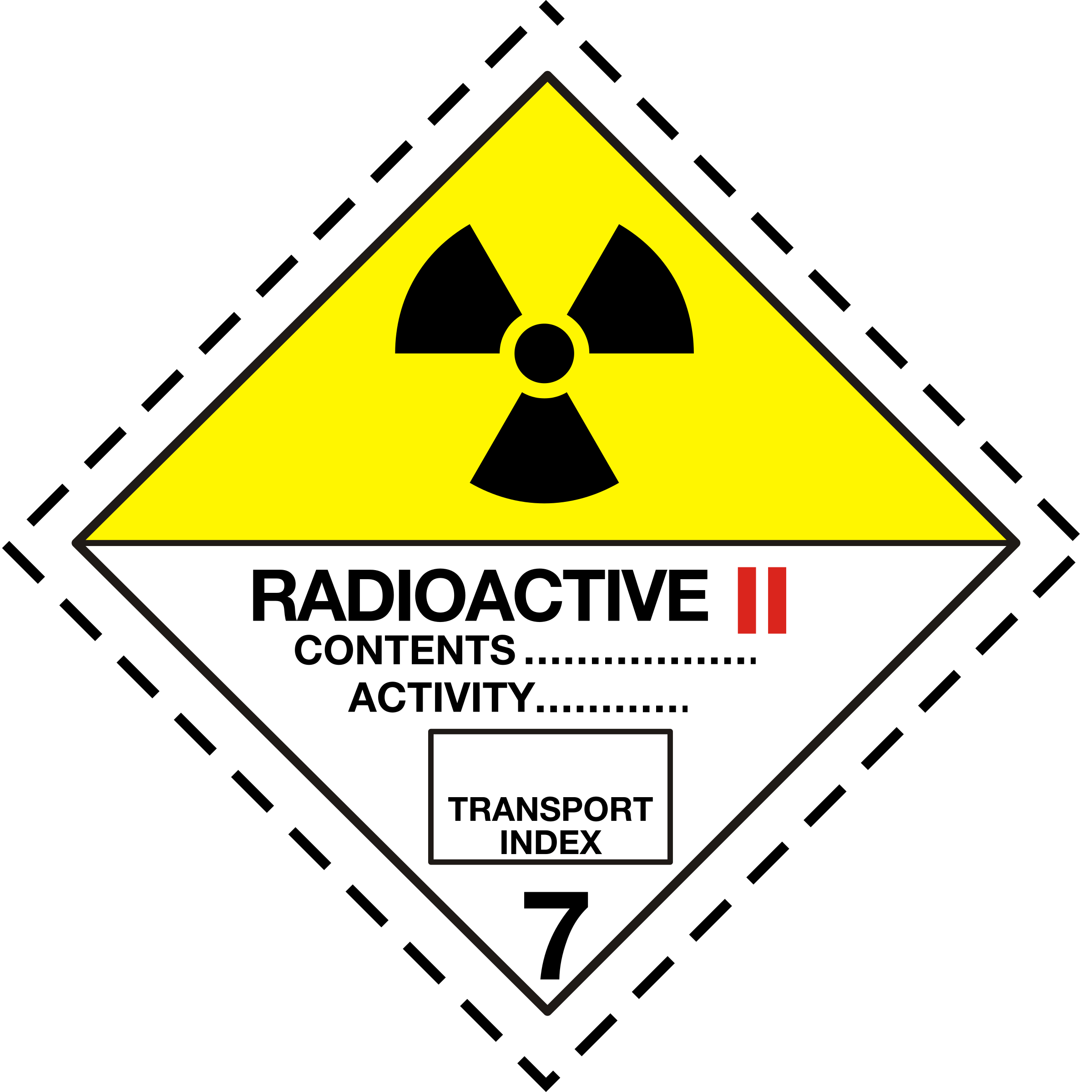 ADR pictogram 7b-Radioactive by Juhele