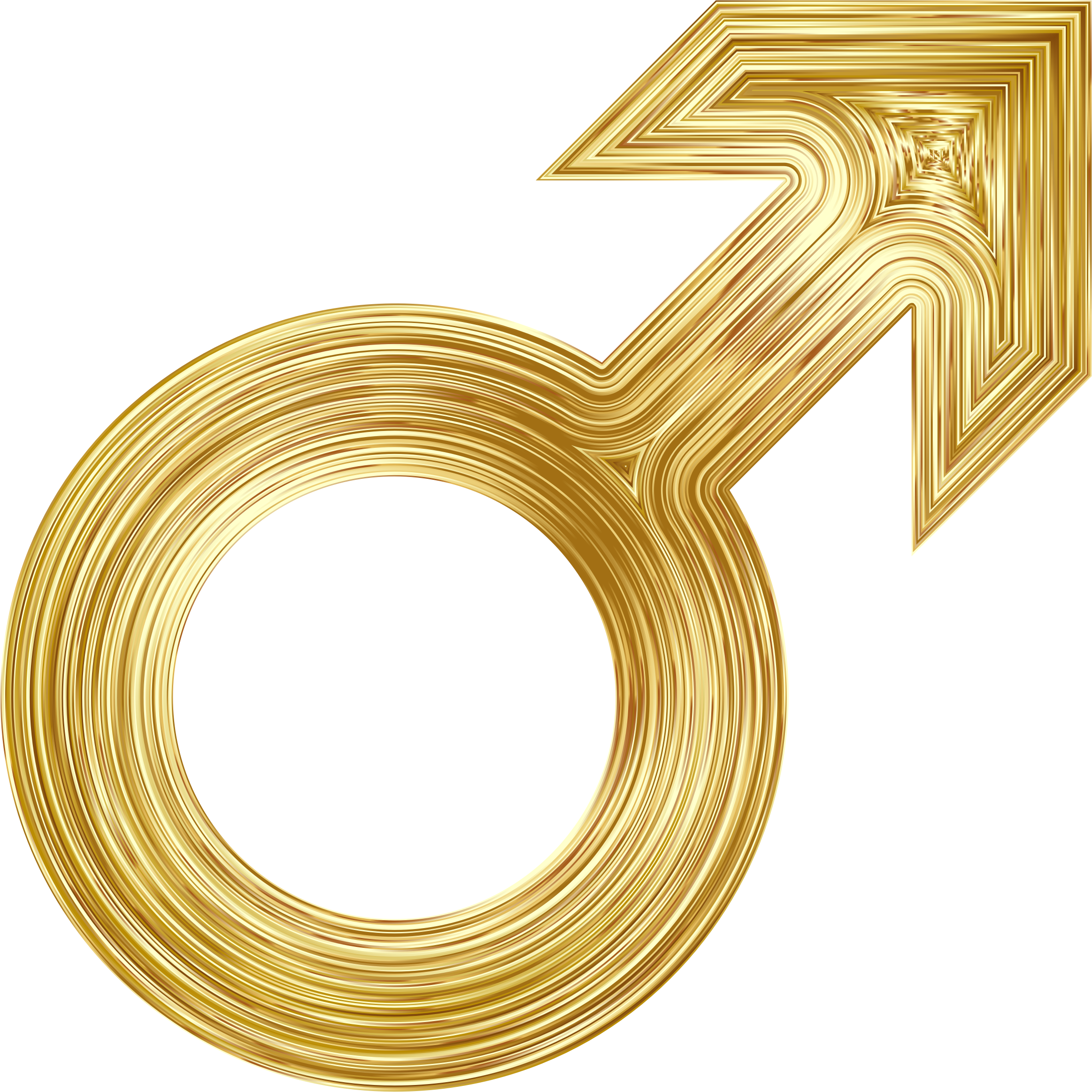 Male Symbol Gold by GDJ