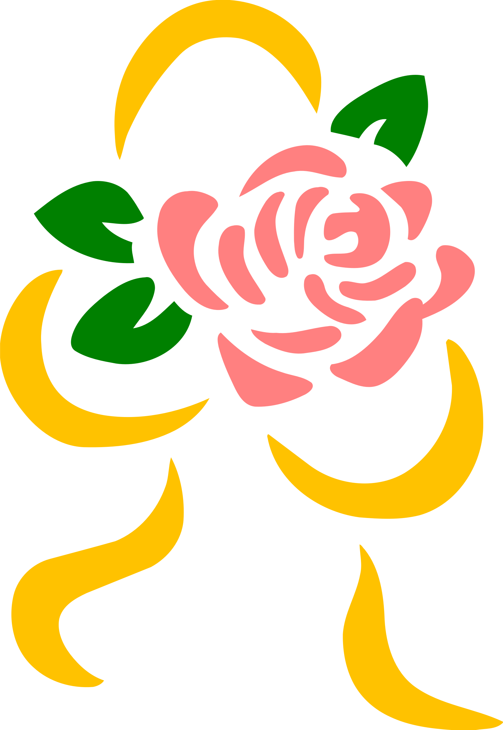 Stylised rose 5 (colour) by Firkin