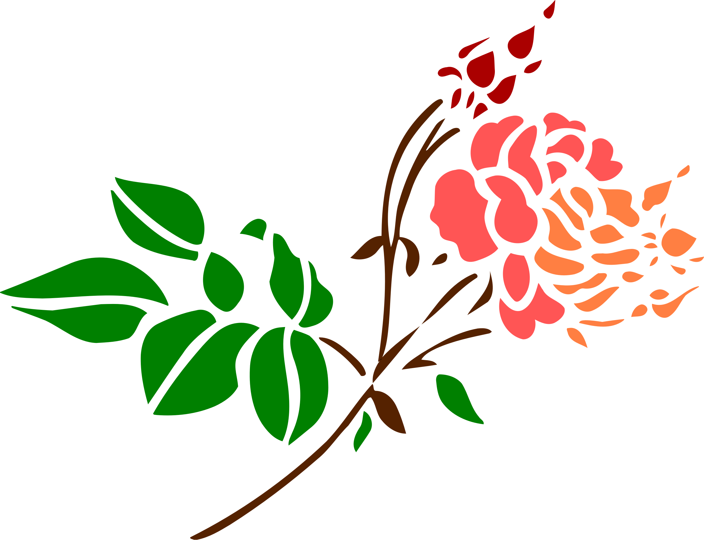 Stylised rose 4 (colour) by Firkin