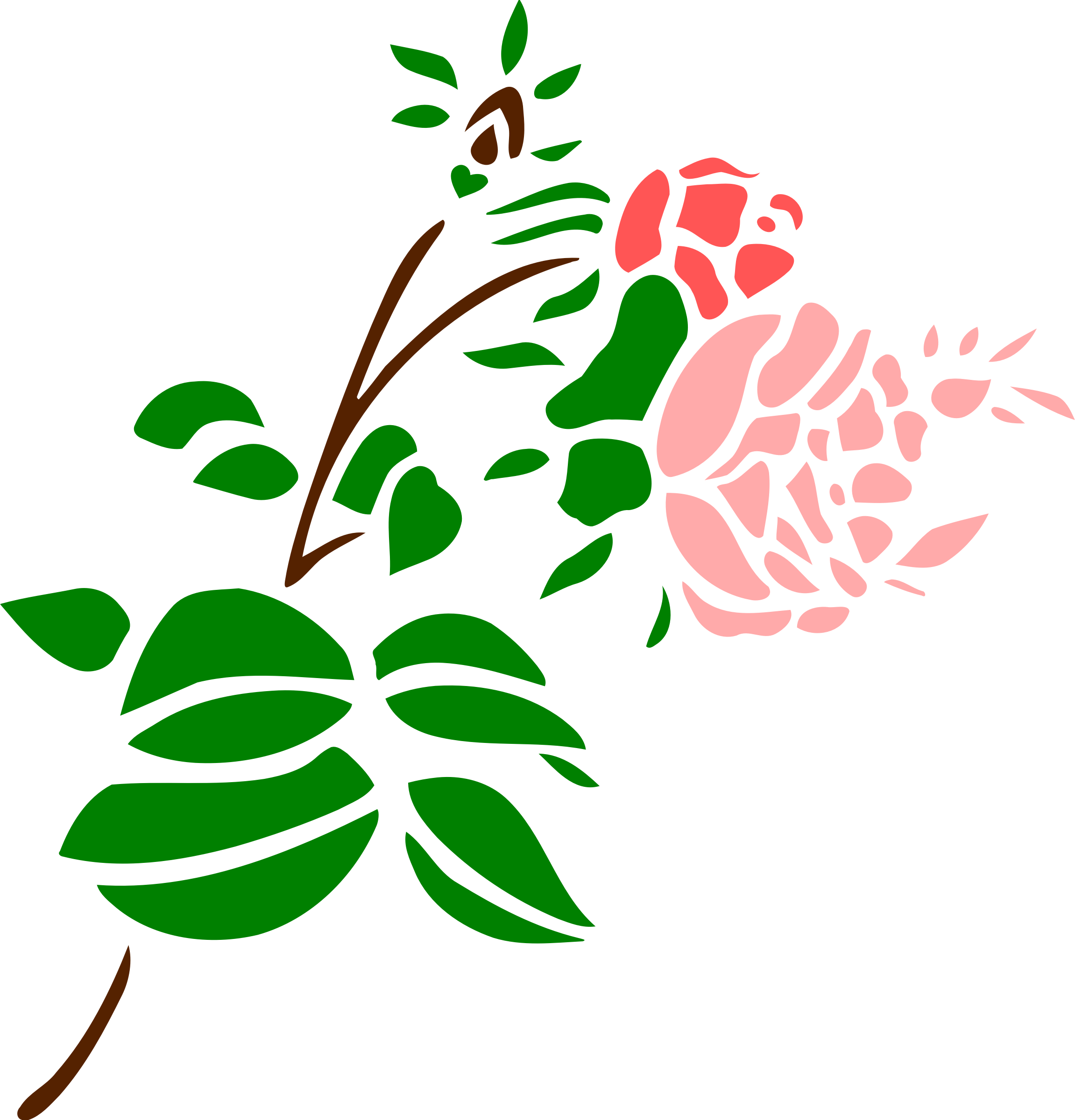 Stylised rose 3 (colour) by Firkin