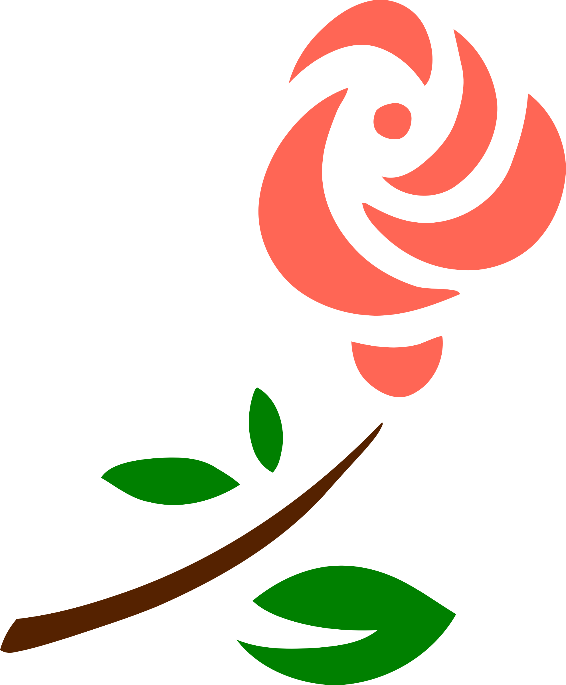 Stylised rose 2 (colour) by Firkin