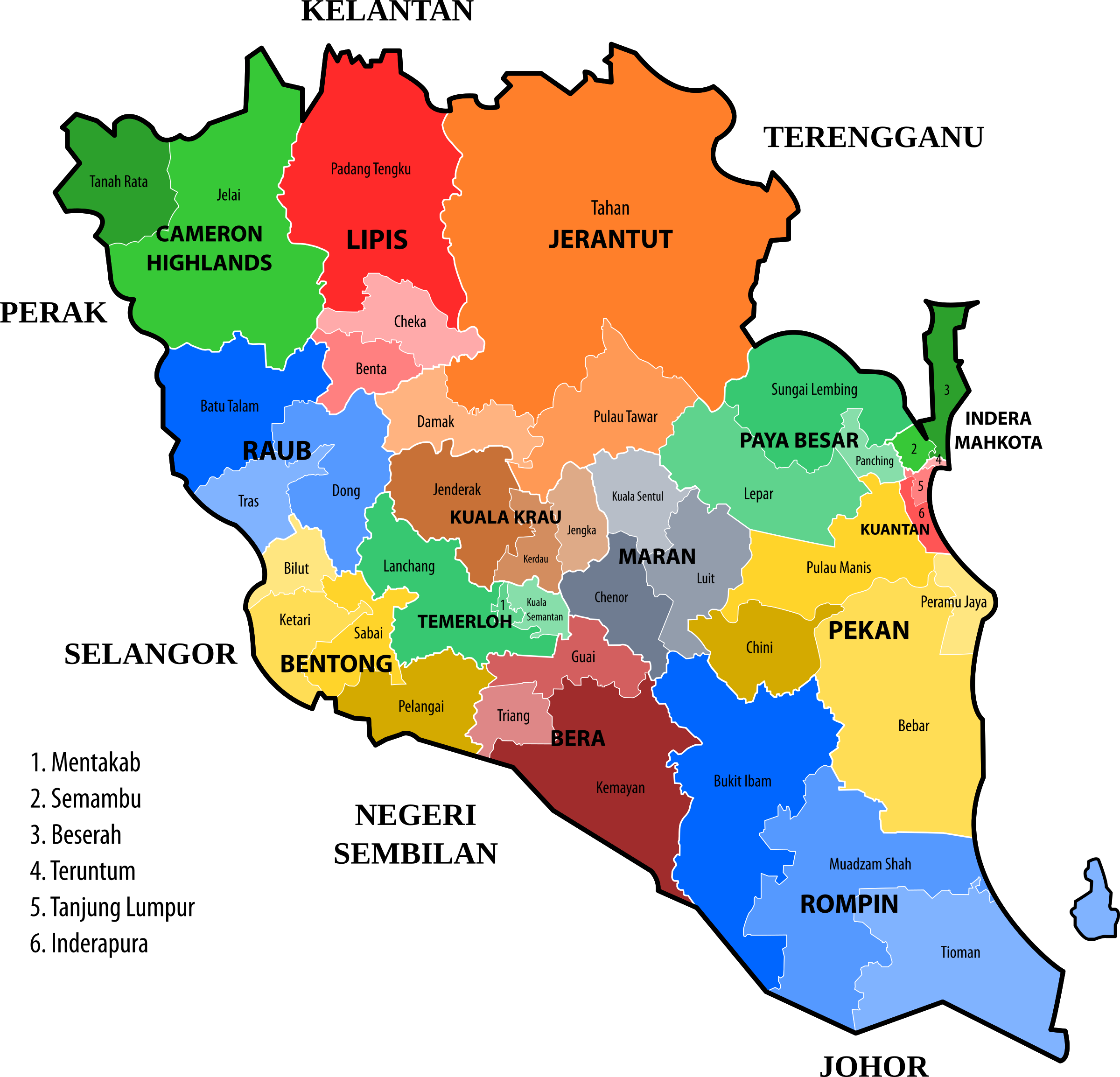 Pahang new electoral map (March 2017 proposal) by derkommander0916