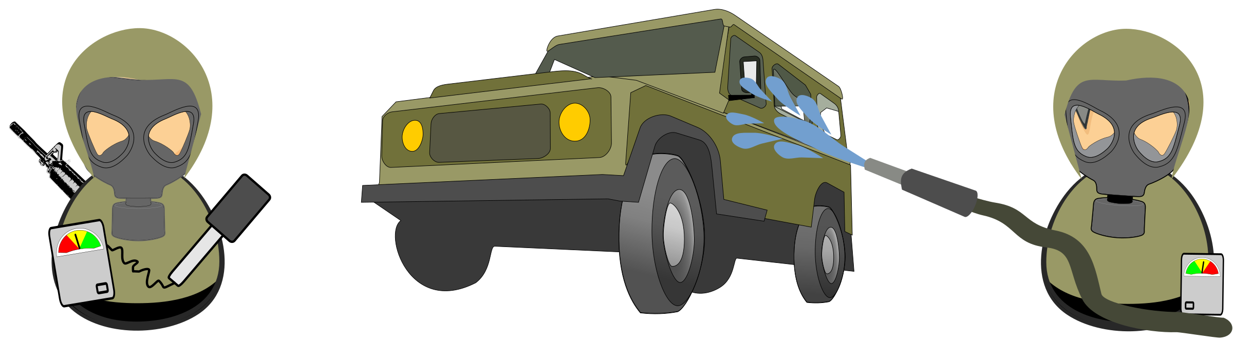HAZMAT military car decontamination by Juhele
