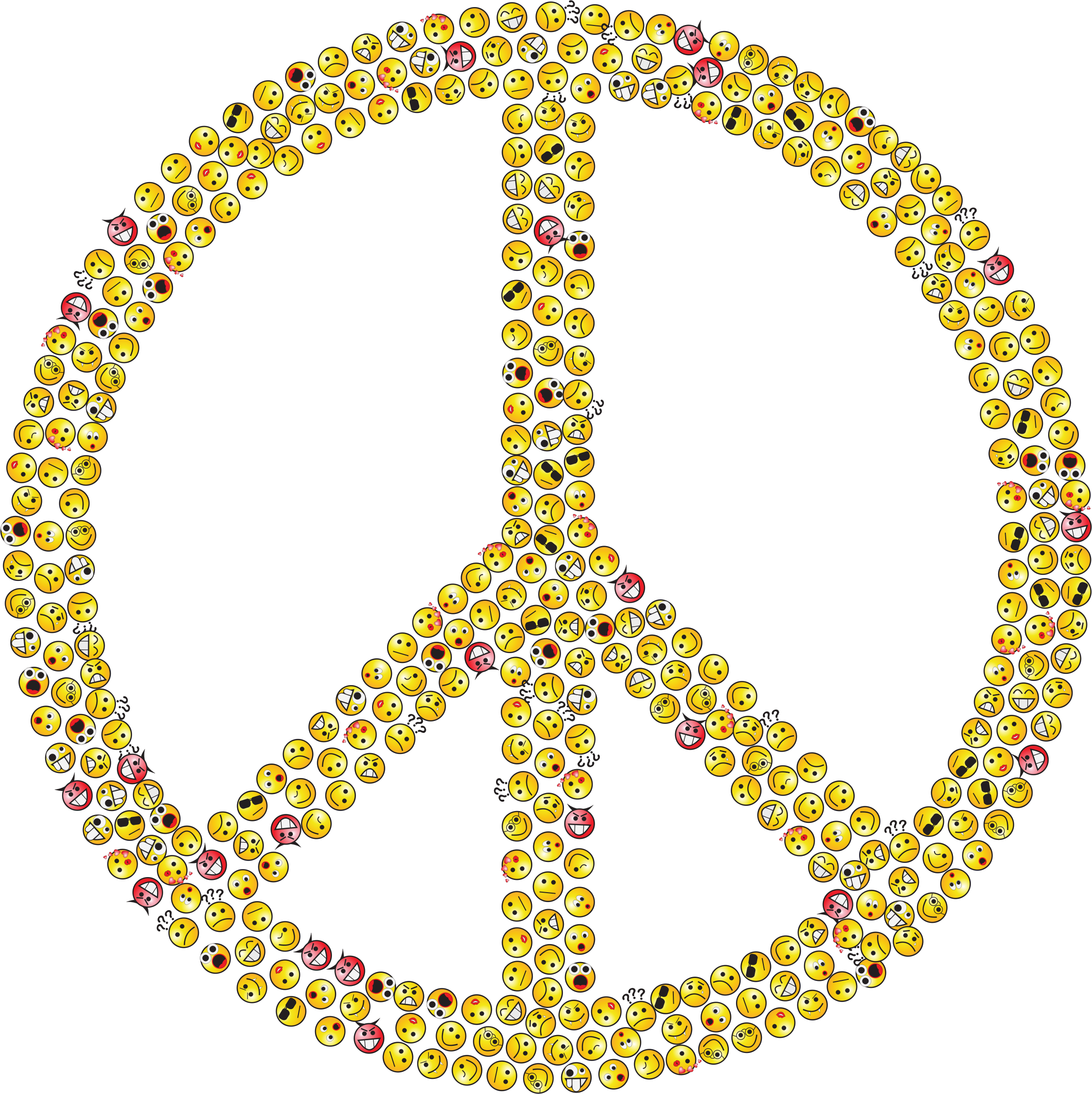 Peace Sign Smileys by GDJ