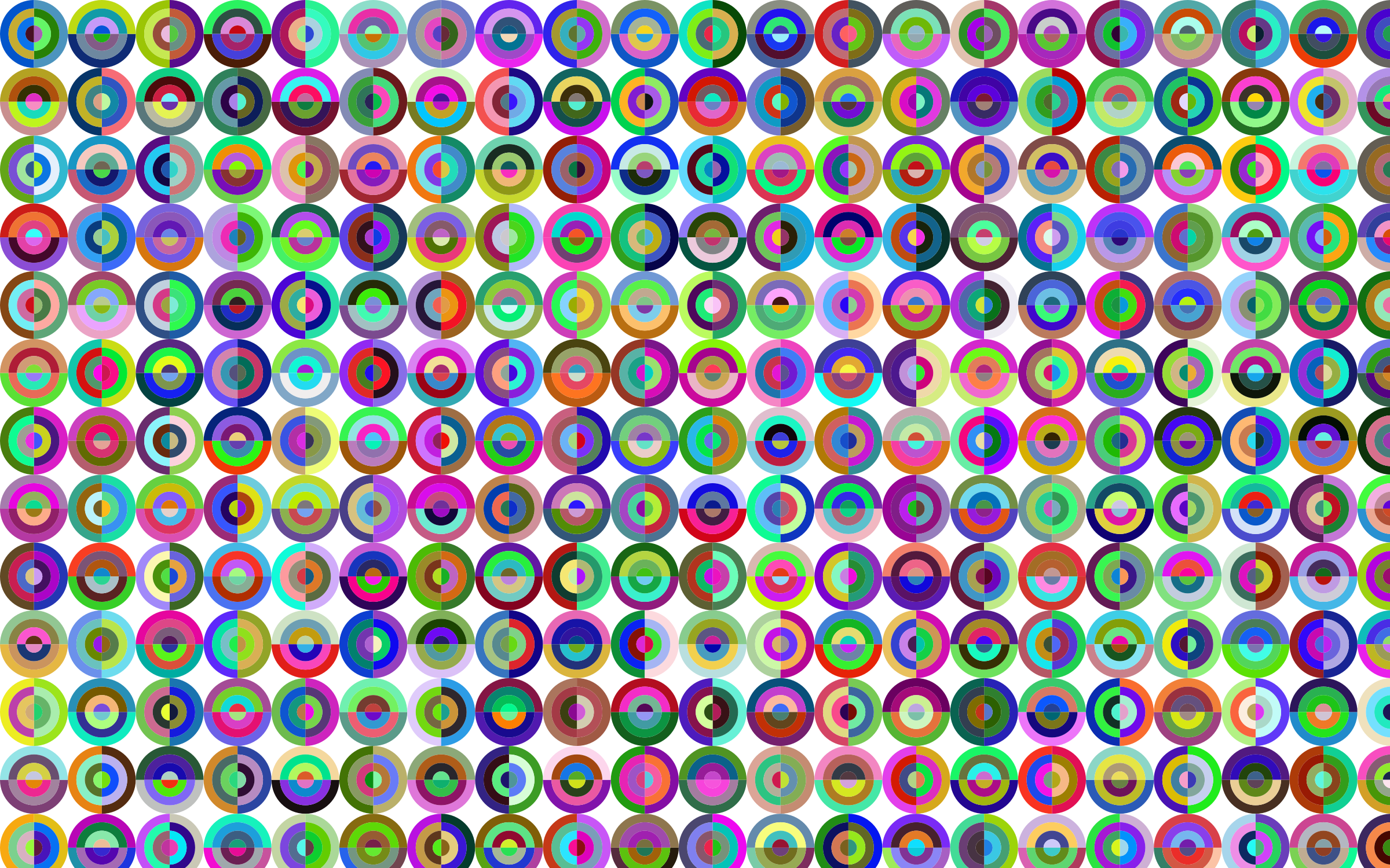 Prismatic Concentric Checkered Circles Pattern by GDJ
