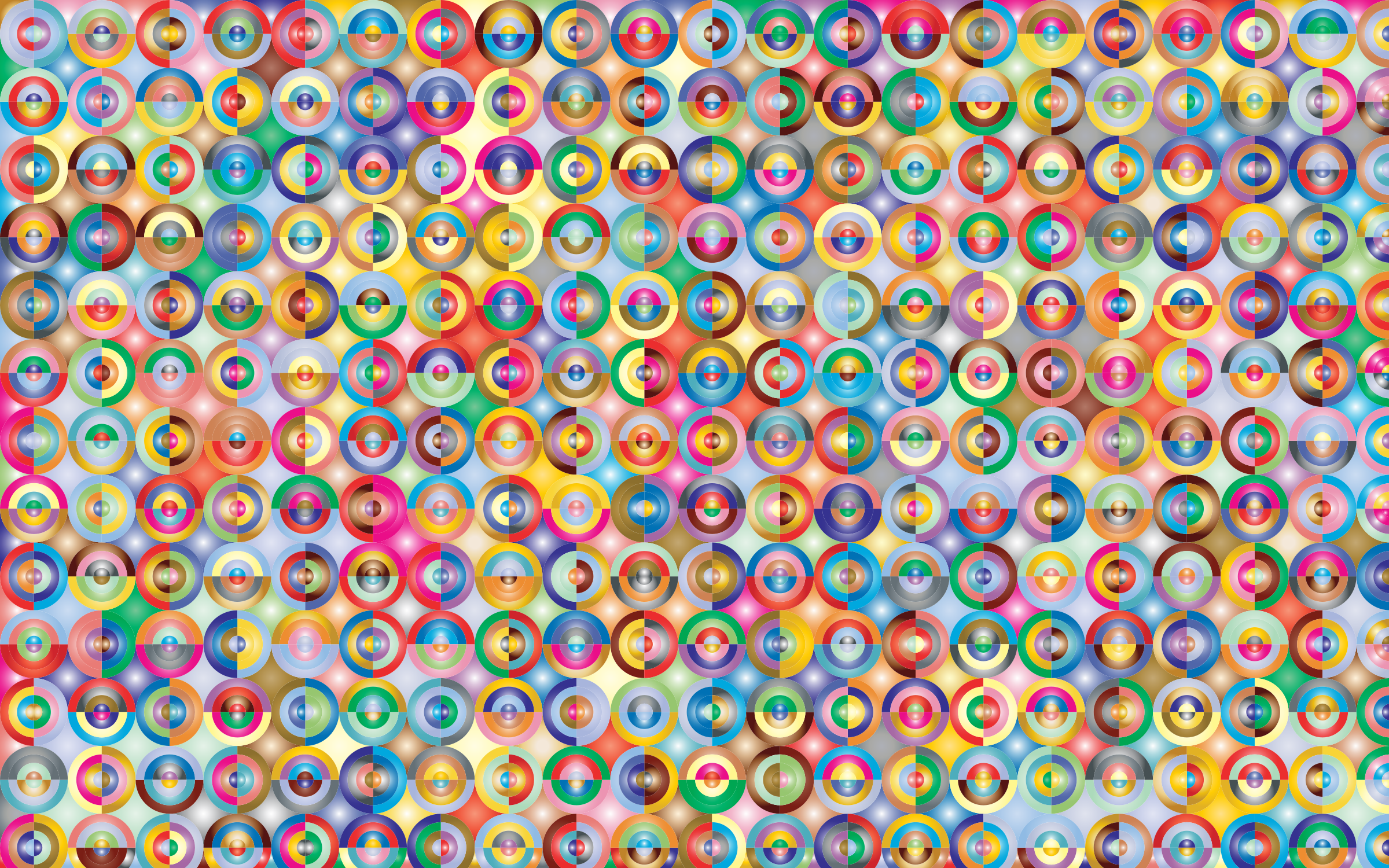 Prismatic Concentric Checkered Circles Pattern 2 by GDJ