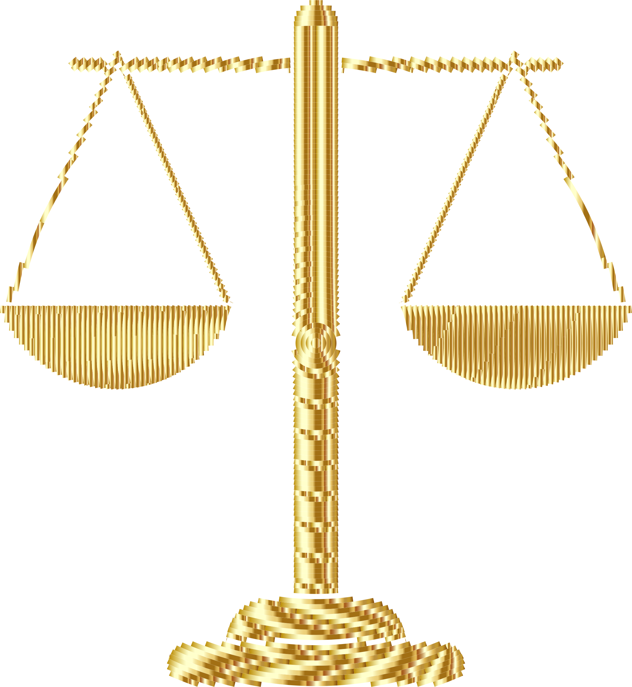 Gold Abstract Justice Scales 2 by GDJ