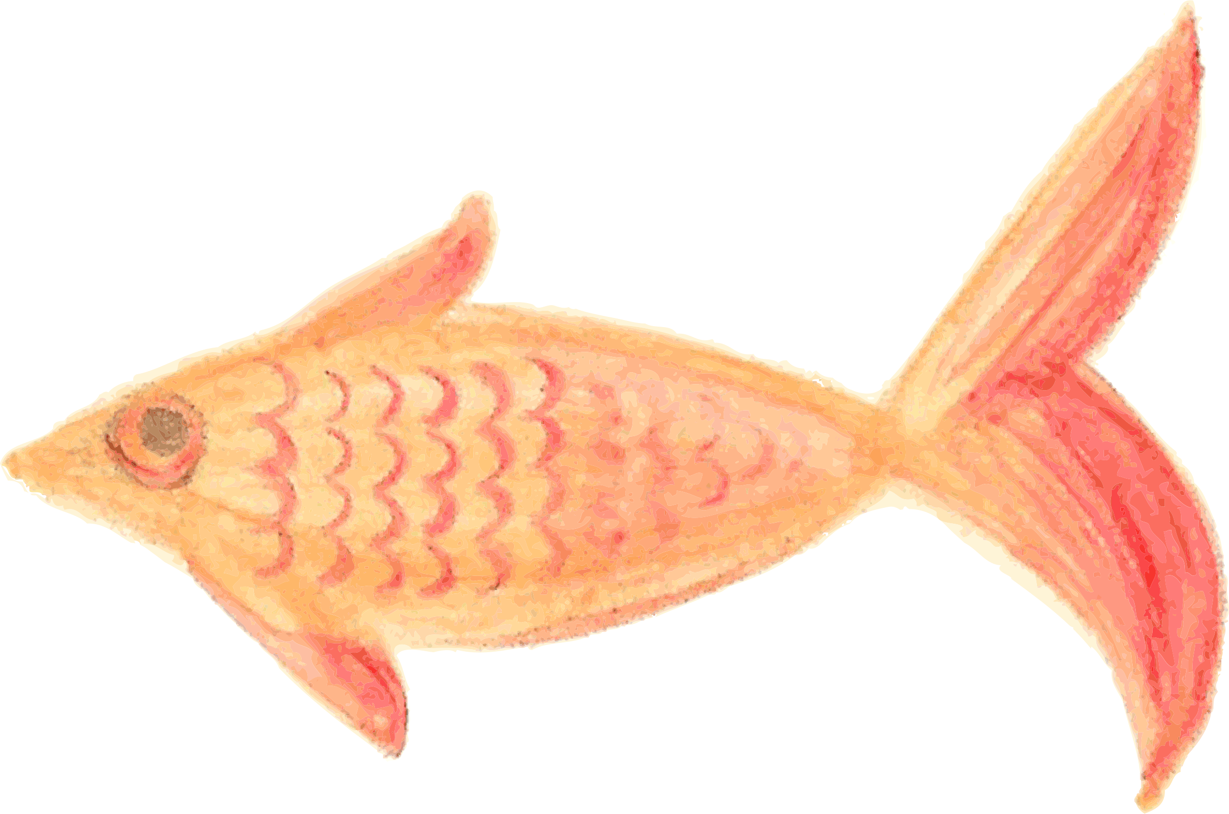 Painted Fish Orange patterned traced by oldifluff