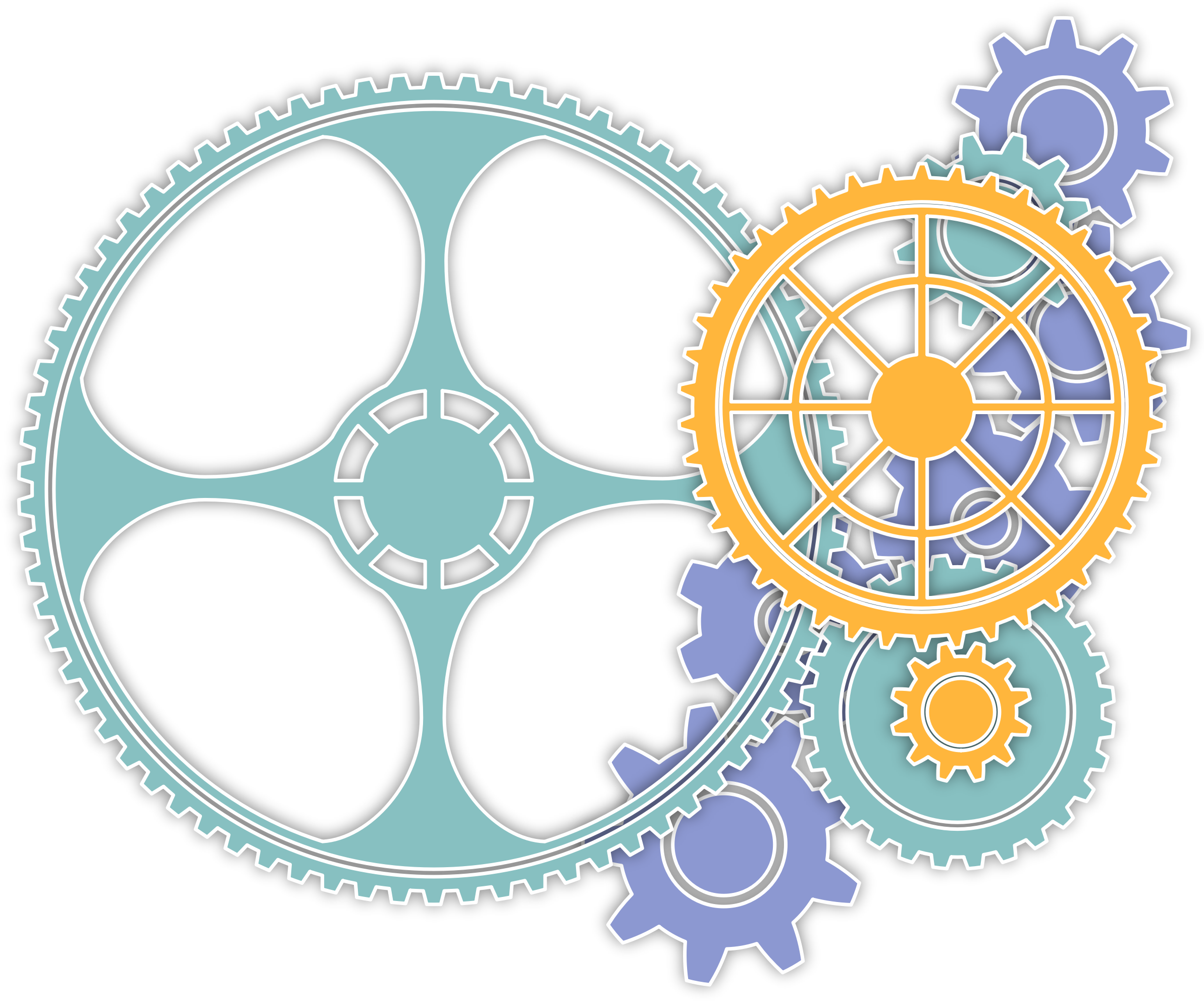 Colored gears by enolynn