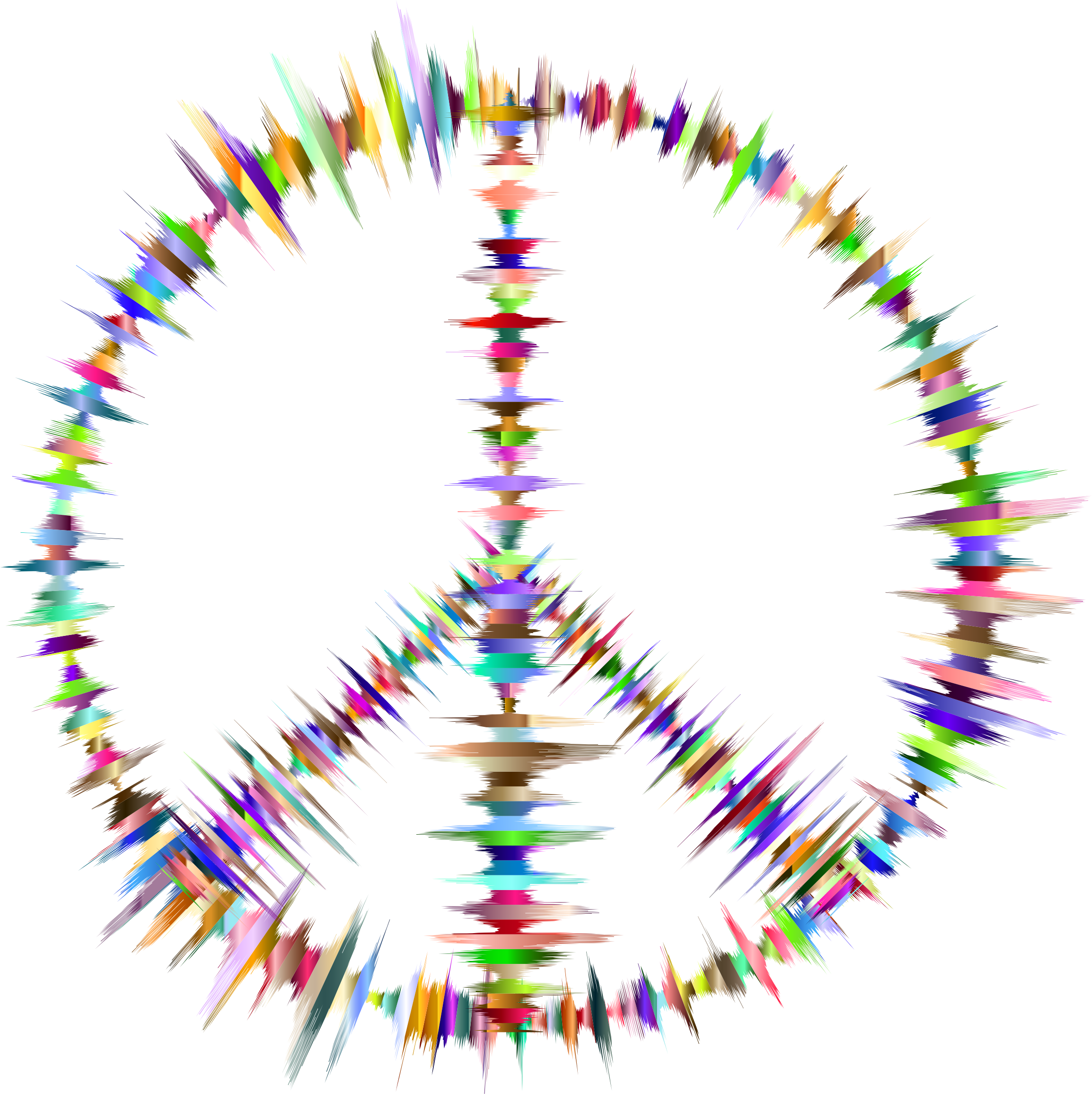Prismatic Sound Waves Peace Sign by GDJ