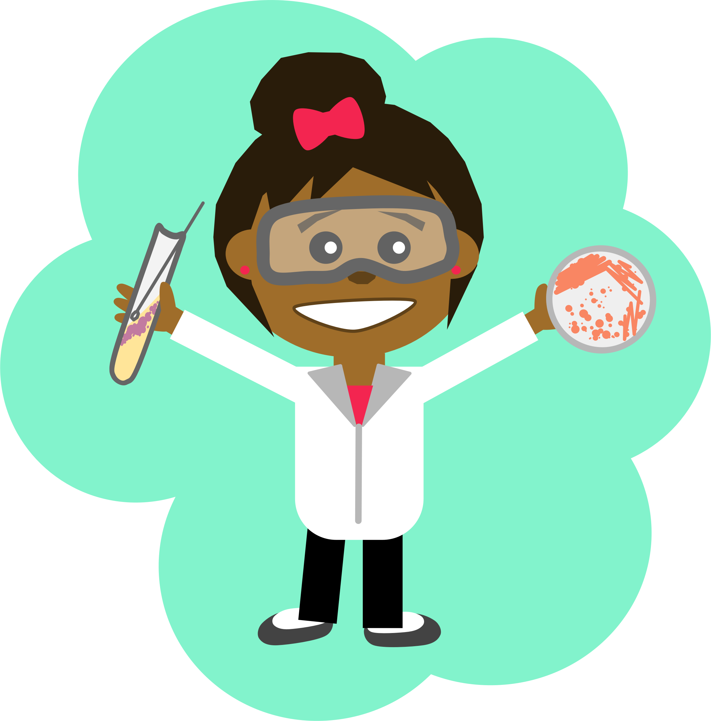 Clipart - Science Girl 2