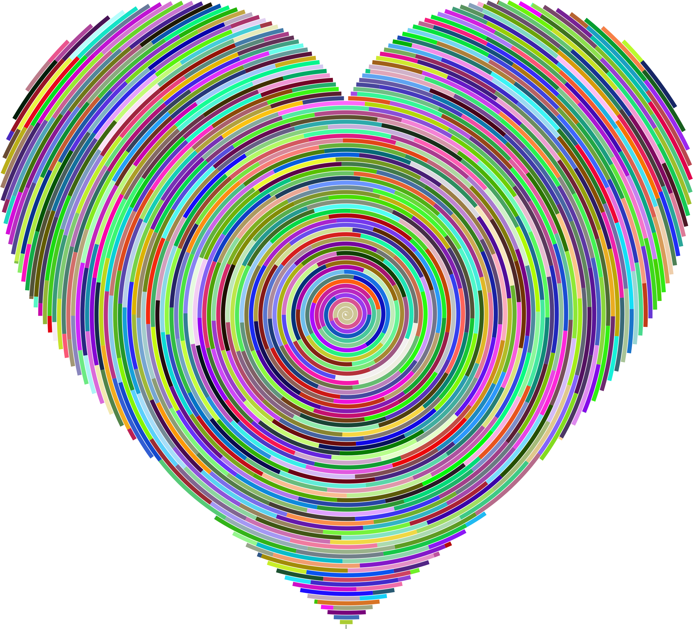 Psychedelic Concentric Heart by GDJ